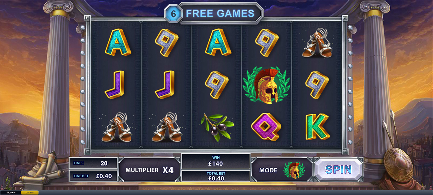 Tunica age of the gods goddess of wisdom playtech slot game dice apps list