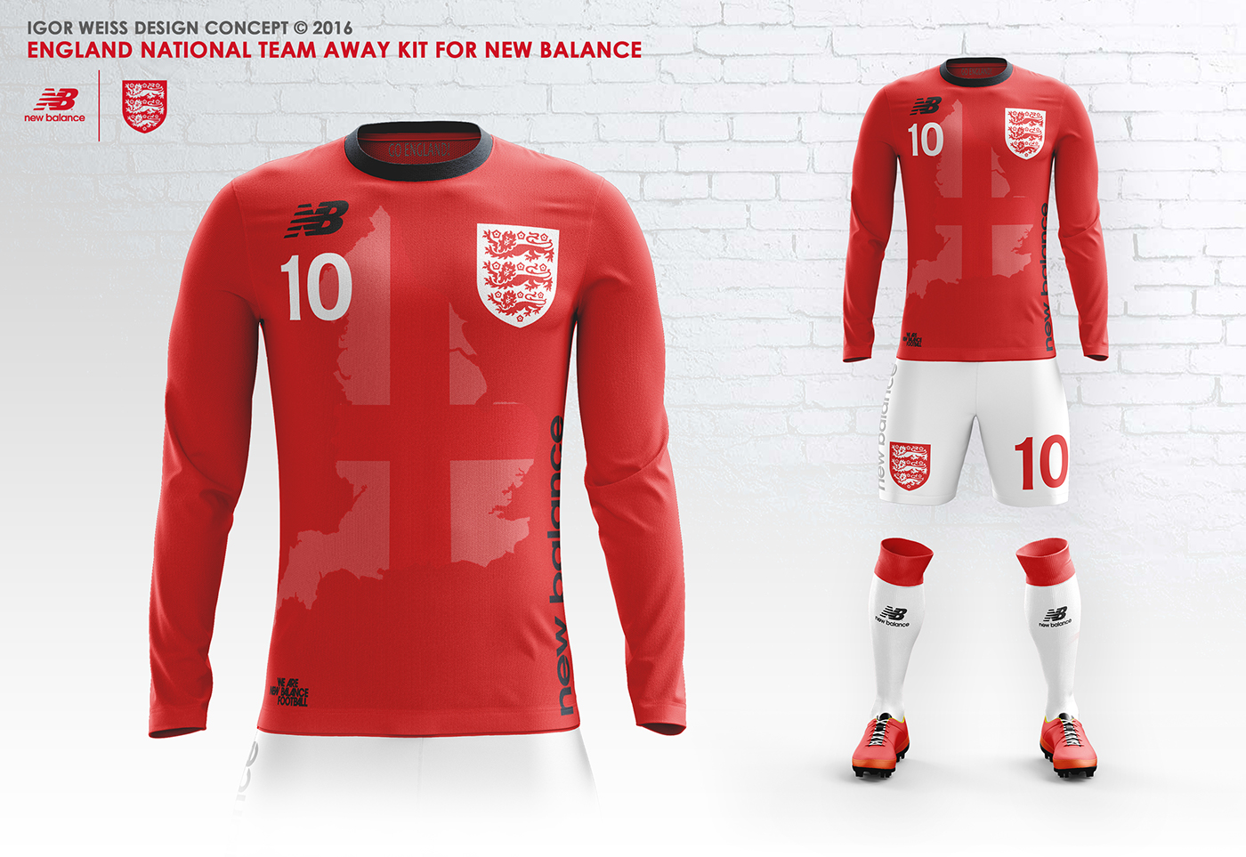 first rate e49c5 af42d ENGLAND ✕ NEW BALANCE CONCEPT KITS SOCCER-FOOTBALL on Behance