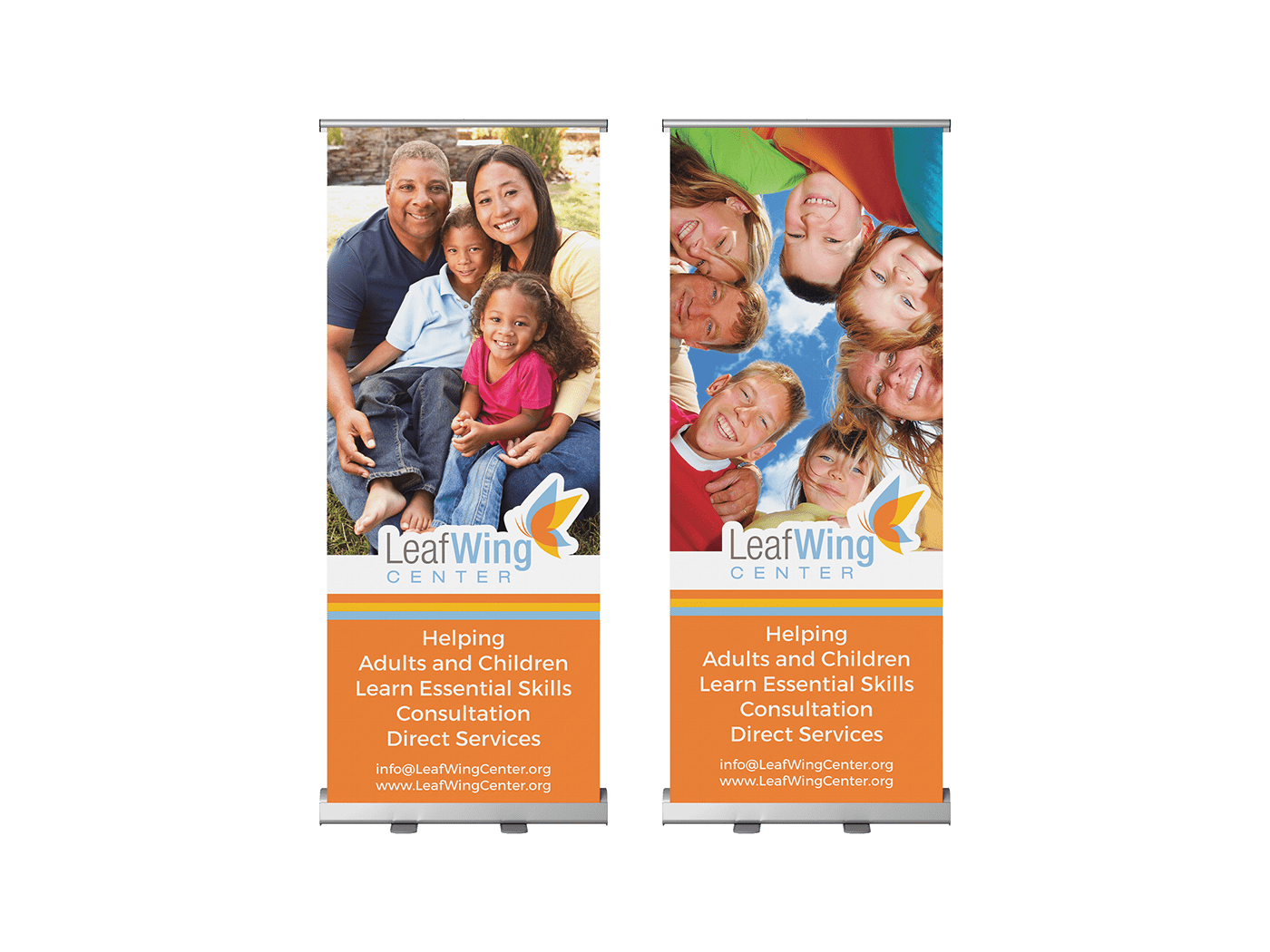 LeafWing Center Tradeshow Retractable Banners