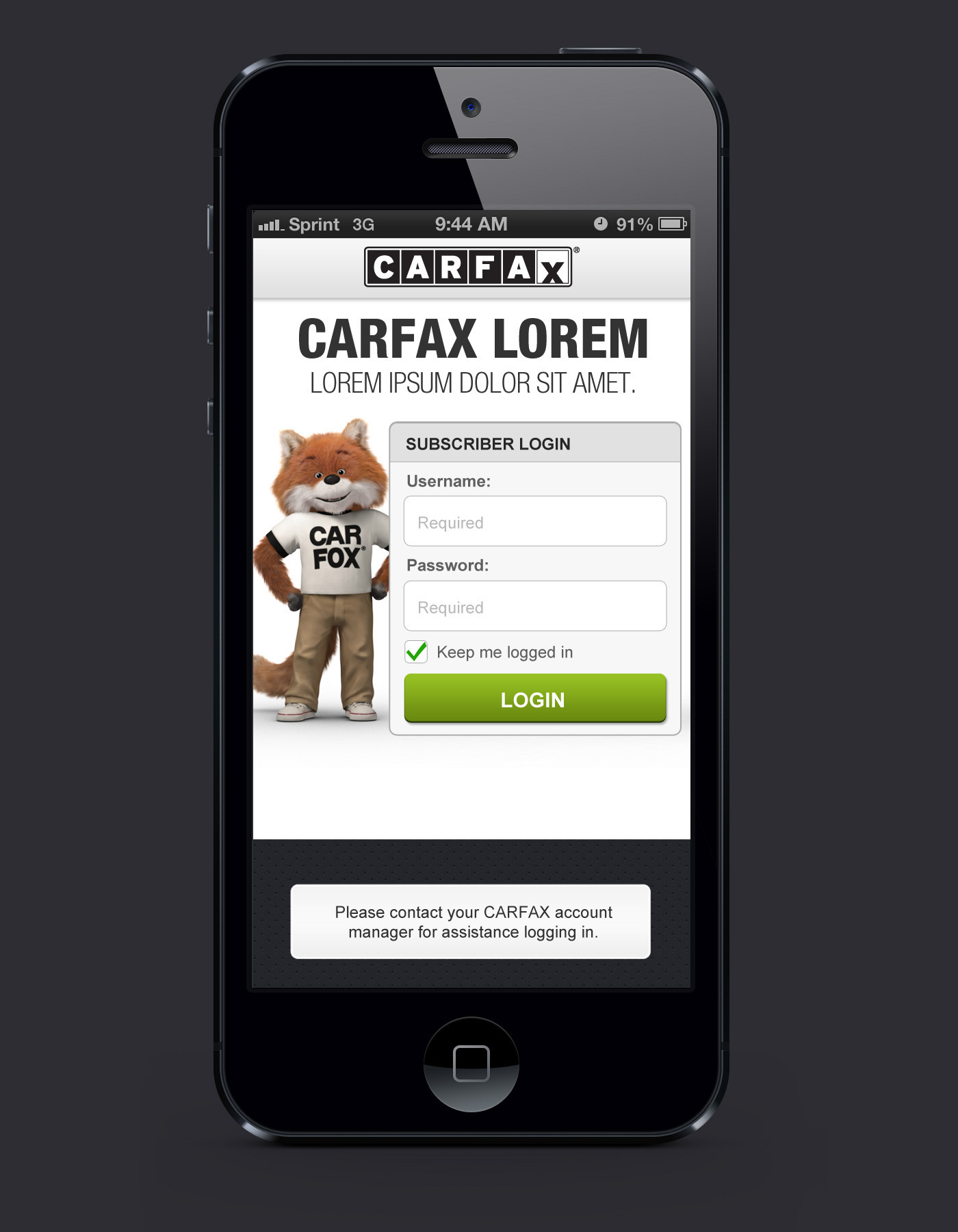 CARFAX Mobile App for Dealers VIN Scanner on Behance