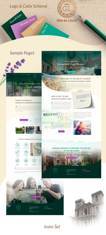 hostel hotel Web site france UI ux interection identity brending