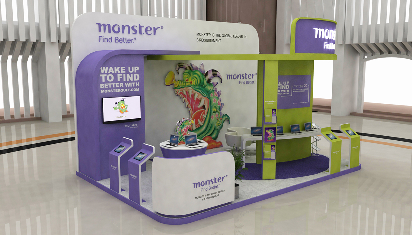 Exhibition Stand Projects : Monster gulf stand design on behance