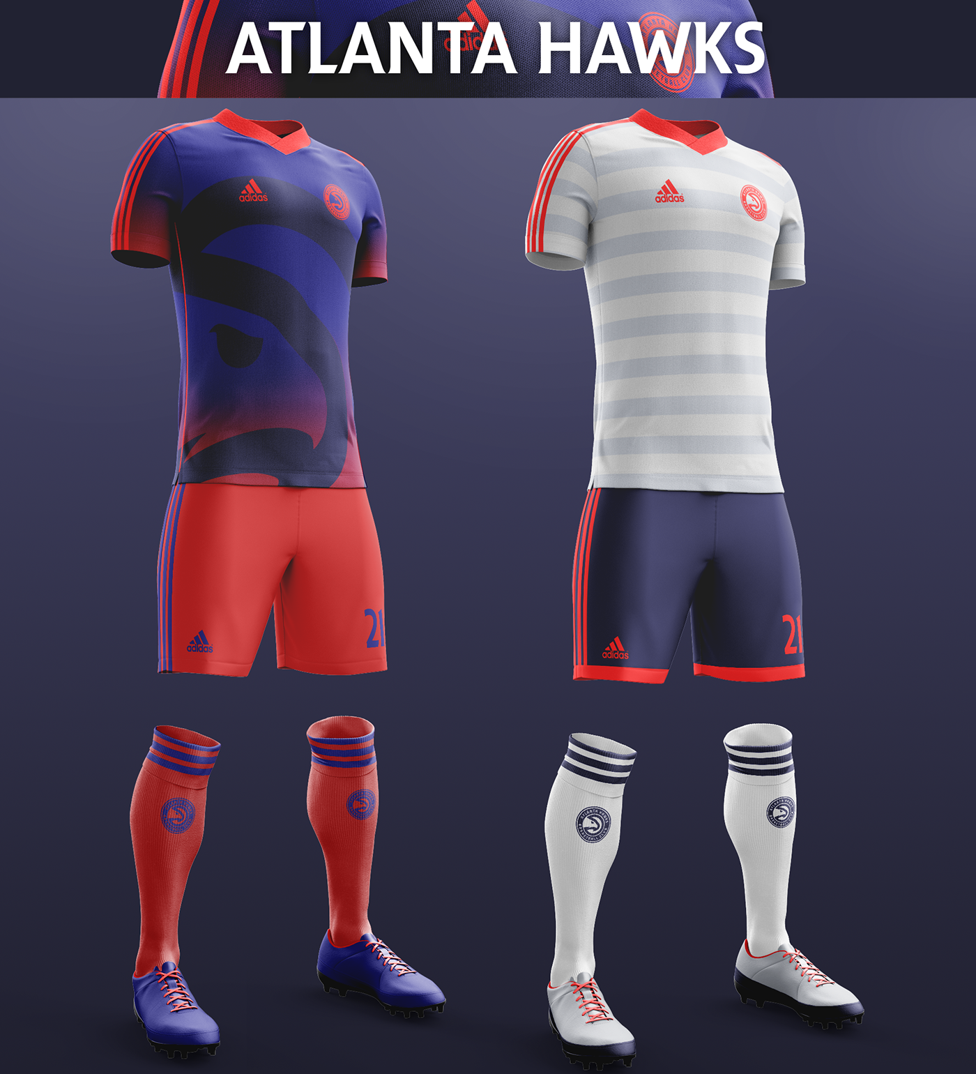 Talisman & Co. | Atlanta Hawks Soccer Concept Kit