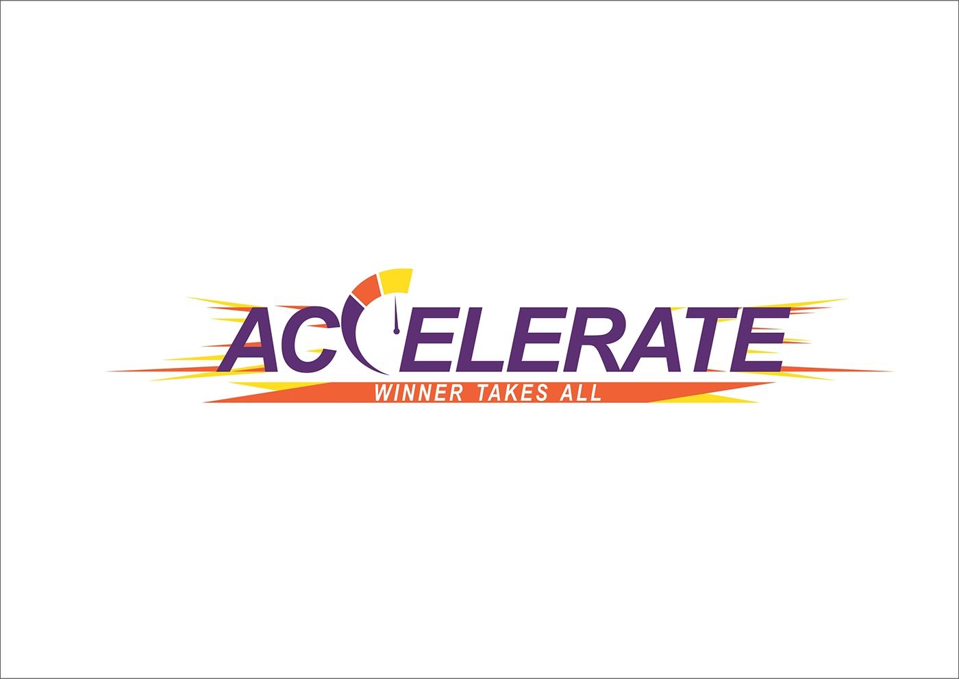 accelerate master logo amp theme logos on behance
