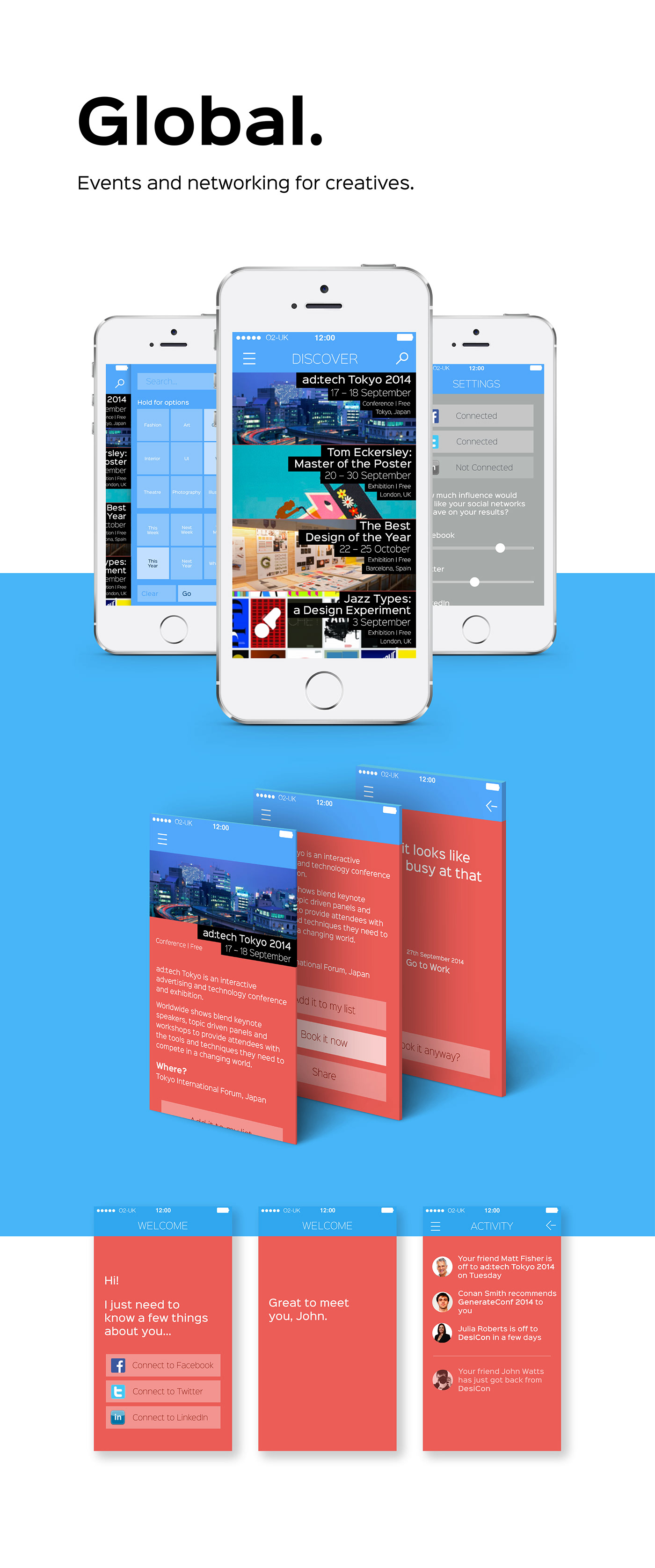app networking social media creatives conference UI ux