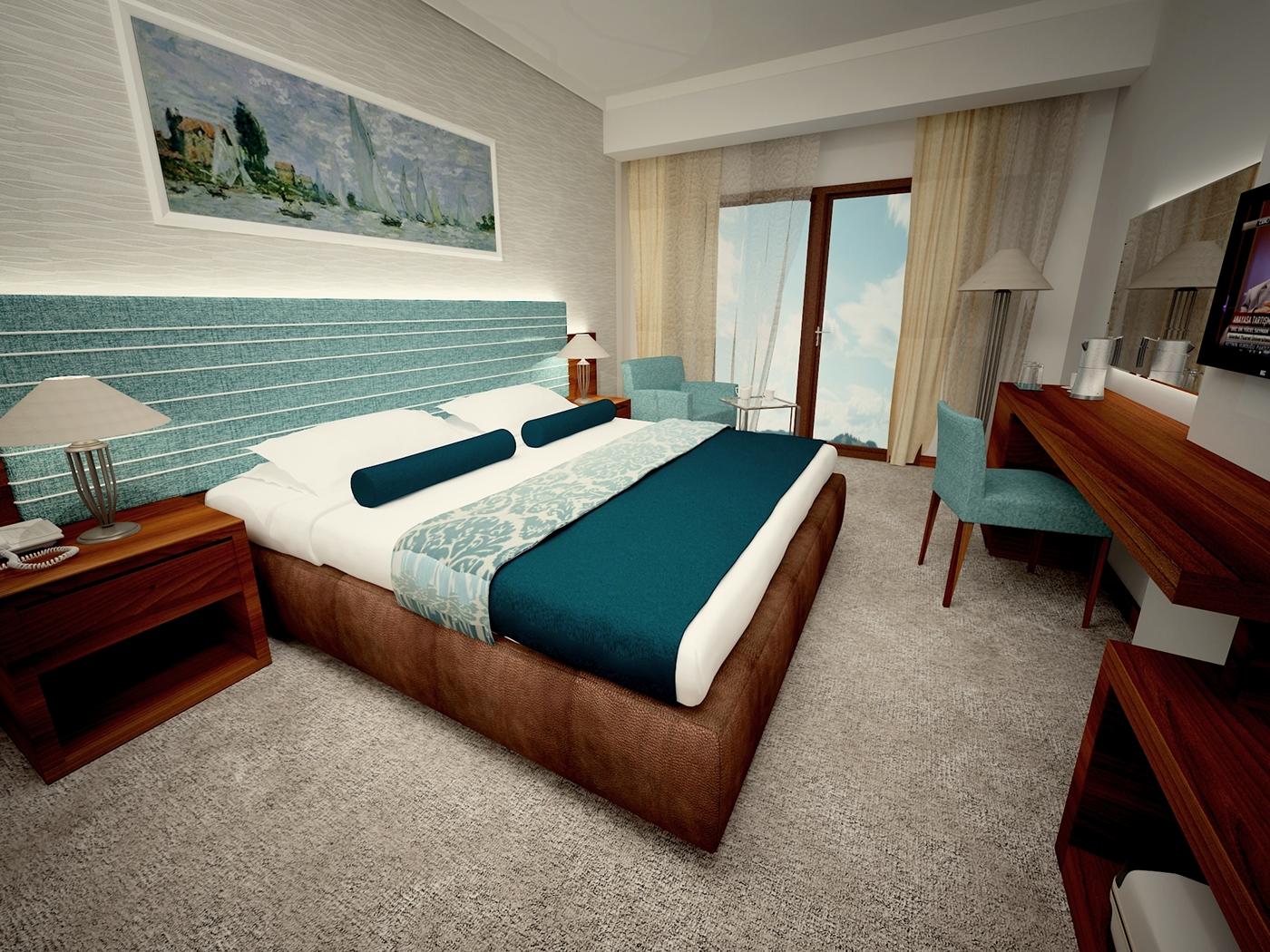 Simple hotel room design on behance for Designhotel 54