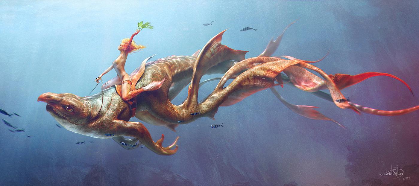 Fantasy Illustration by Alexey Kashpersky