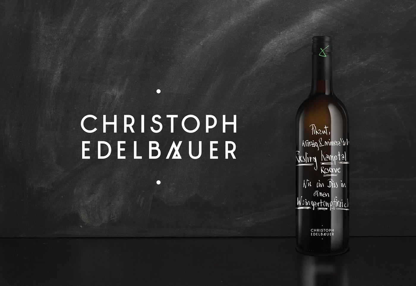 riebenbauer design christoph edelbauer austrian winery pinot noir wine label type