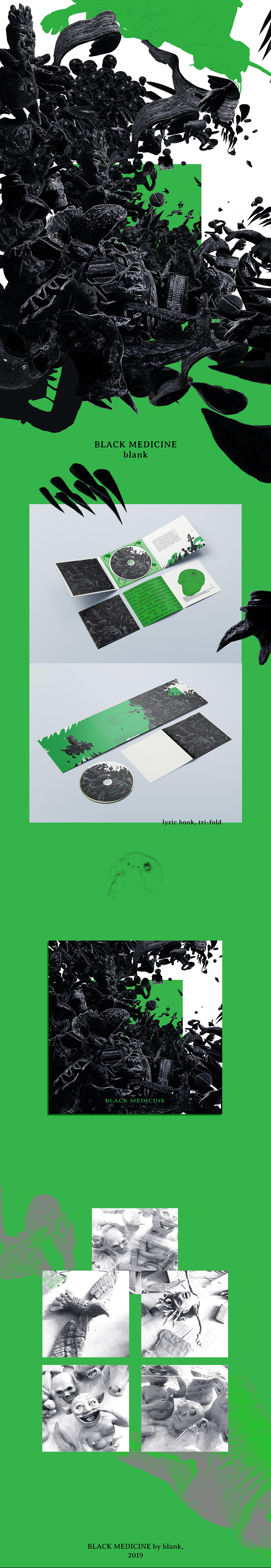 artwork cd design graphic art ILLUSTRATION  post-punk poster rock sculpting
