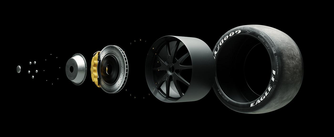 3D 3d car 3d modeling automotive   automotive cg blender 3d car design pantera sports car Super Car
