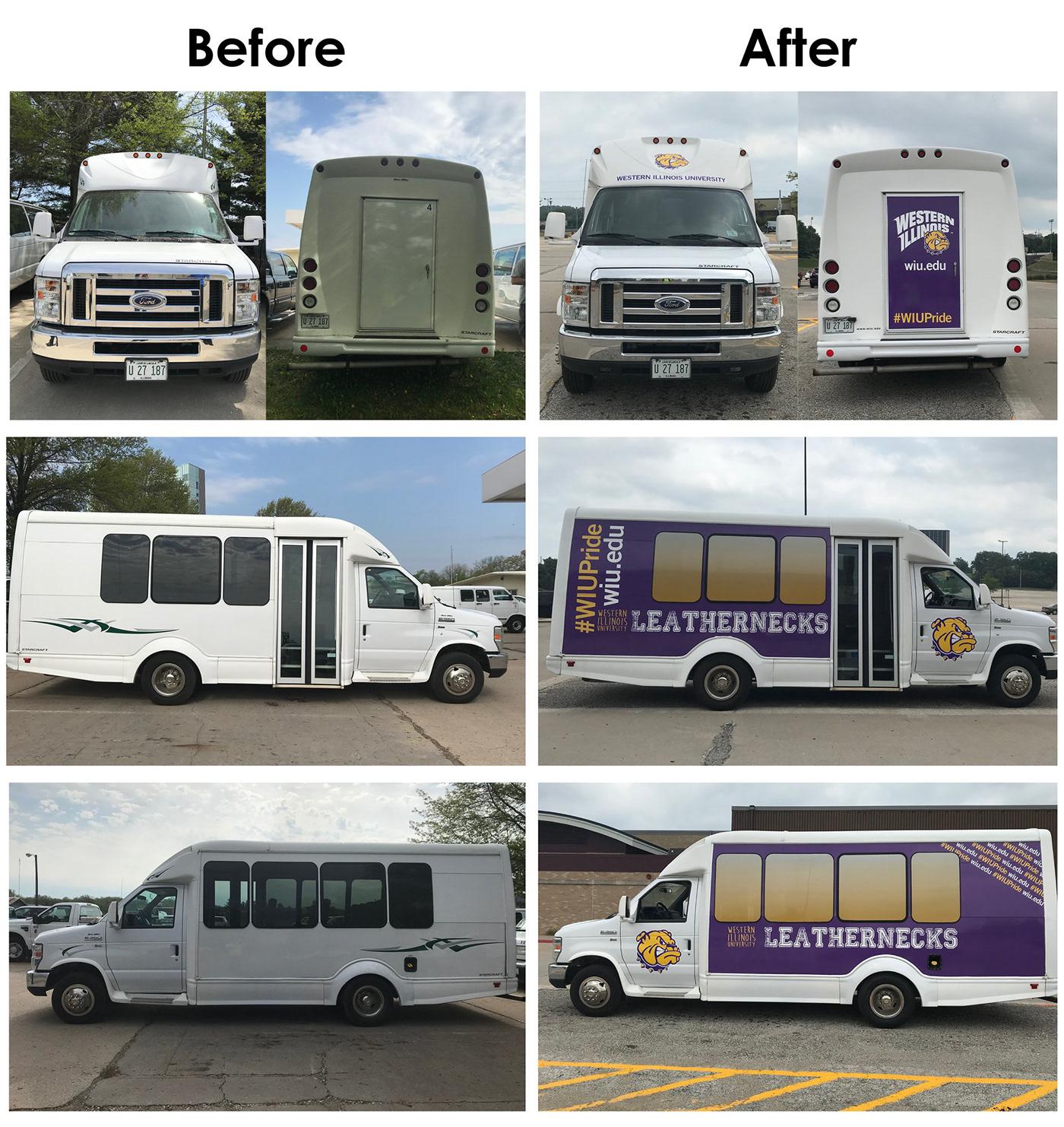 custom mini bus vehicle wrap template on behance
