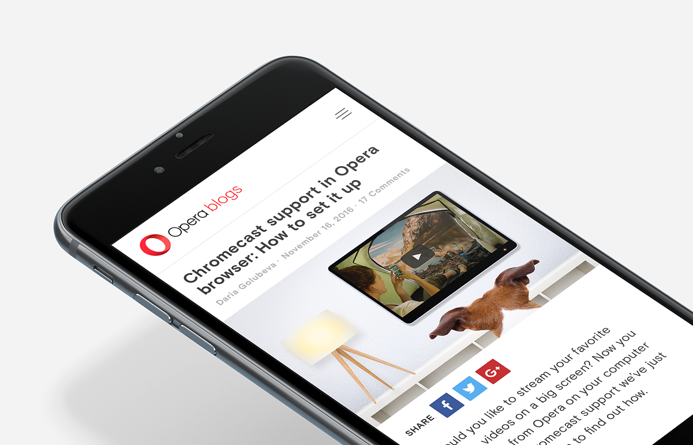 Opera Blogs — Redesign on Behance