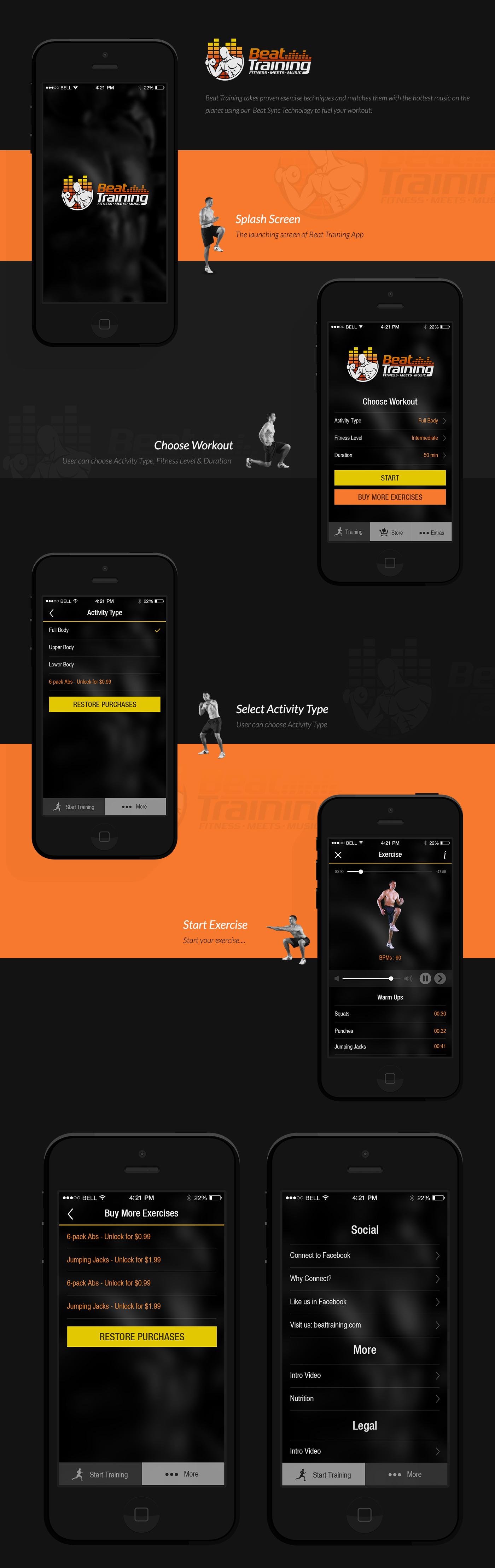 Beat Training training exercise fitness fitness app iOS App