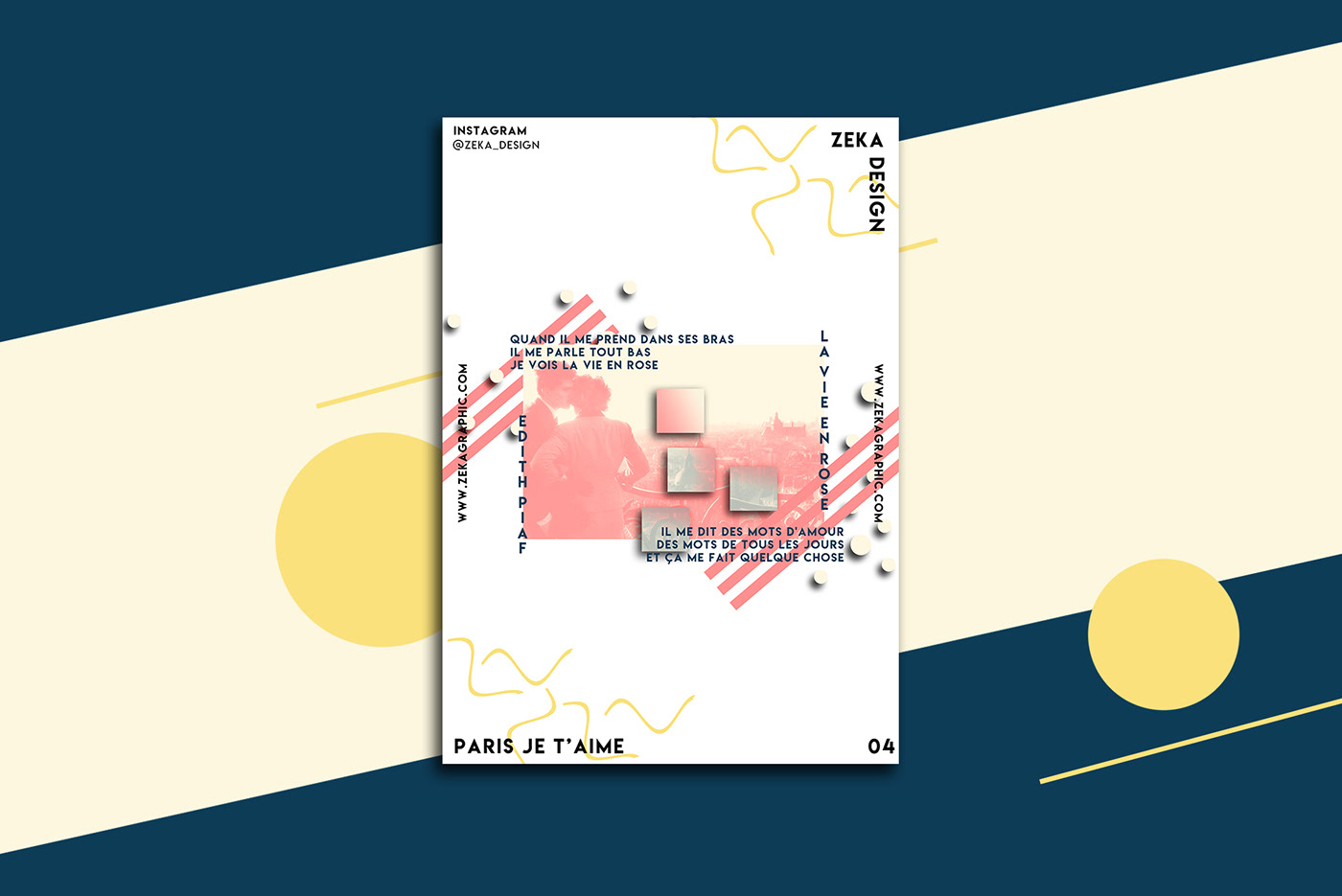 Poster Design graphic design  Paris posters france graphic art direction  Minimalism minimal Chanson