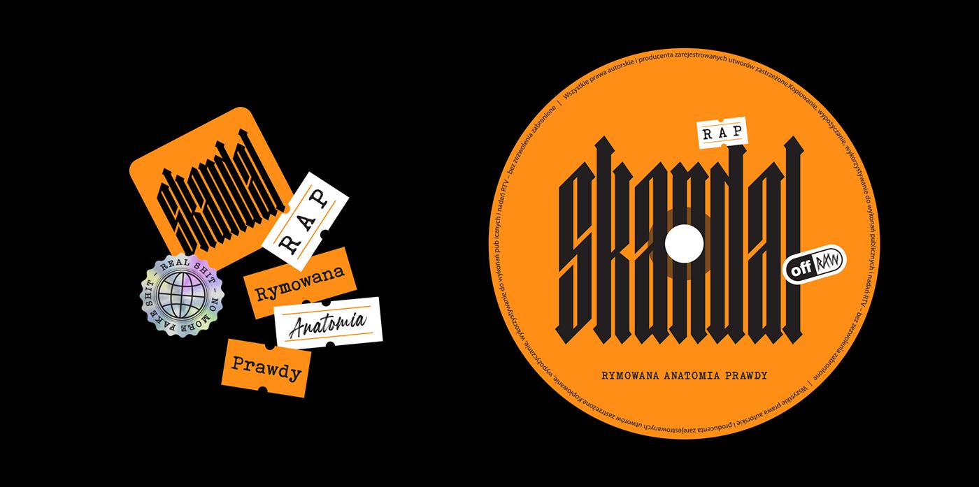 cover Digipack Design Duotone orange price tag skandal stickers trash design