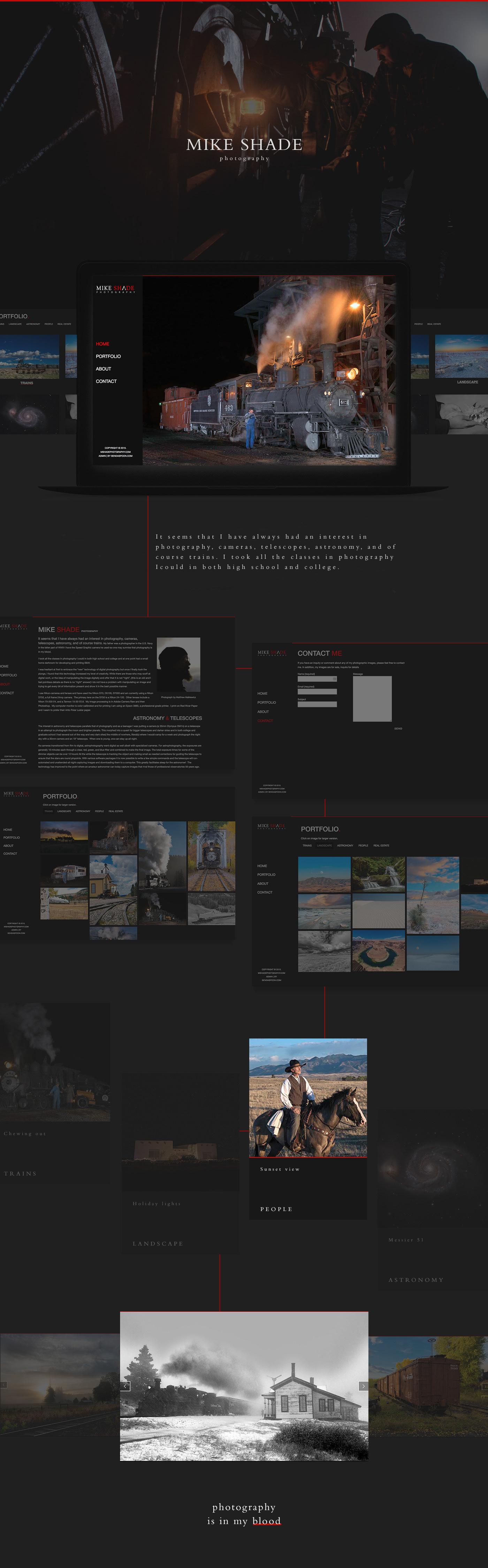 photographer Photography  Website design