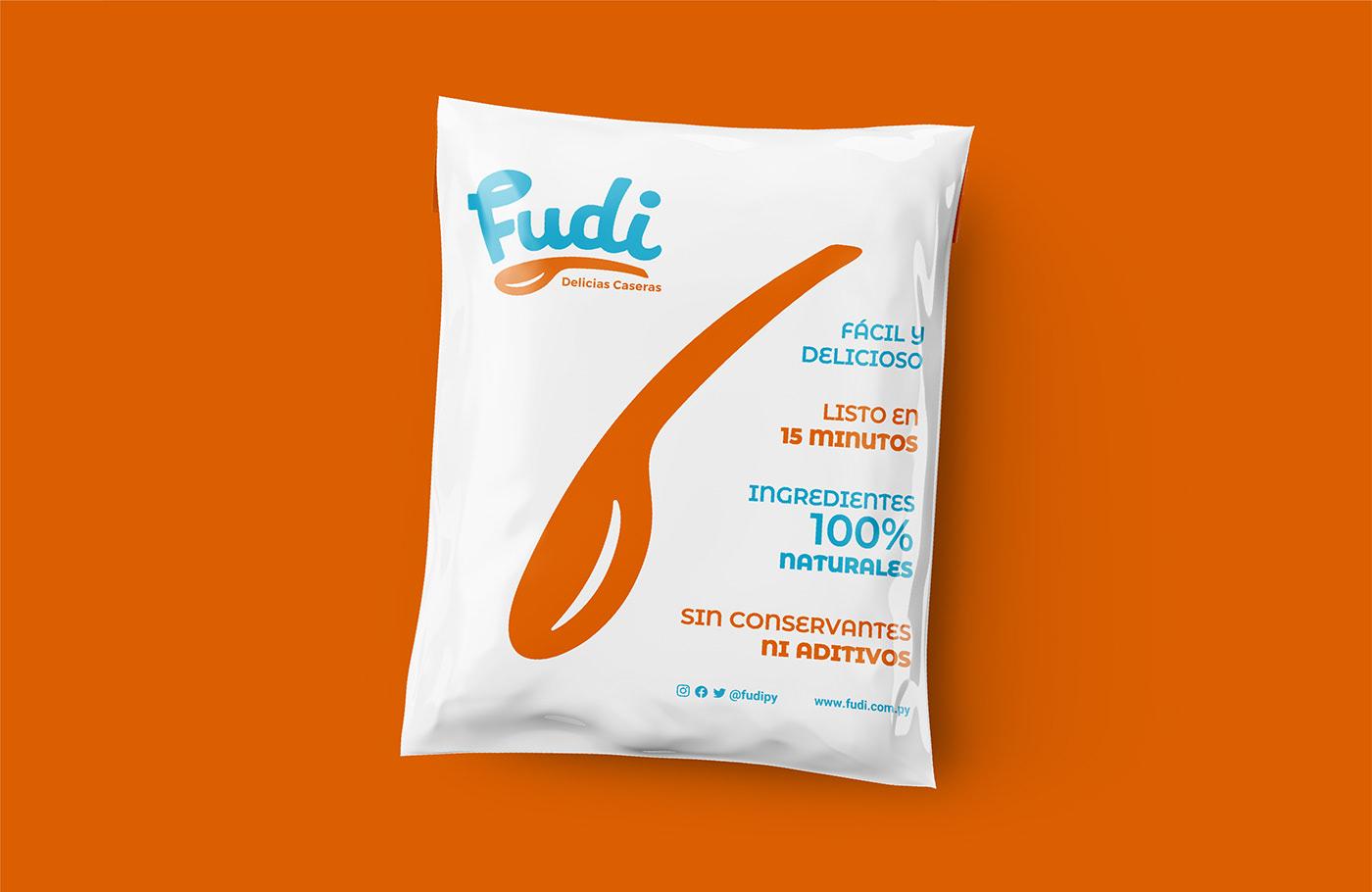 branding  cook Food  frozen home logo Logotype paraguay spoon typography