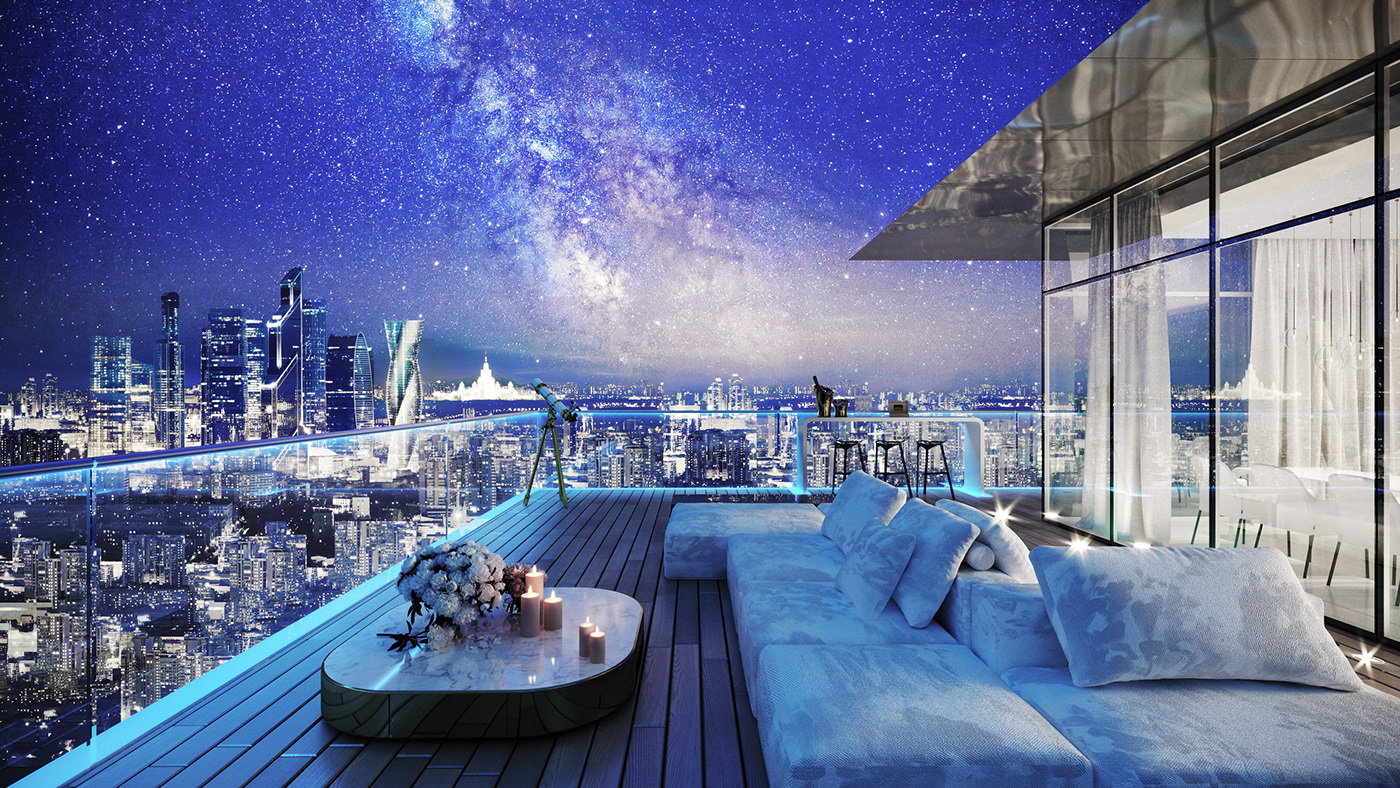 architectural 3D exterior Moscow visualiser visualisation