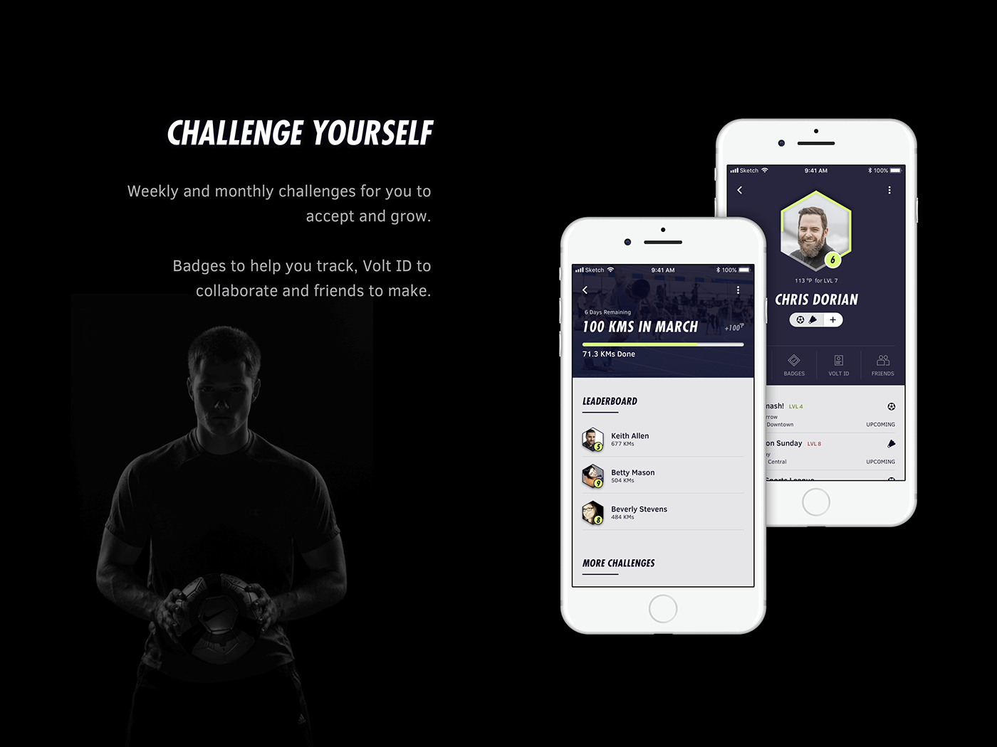sports social app concept athletic Tournament Matches Nike adidas game