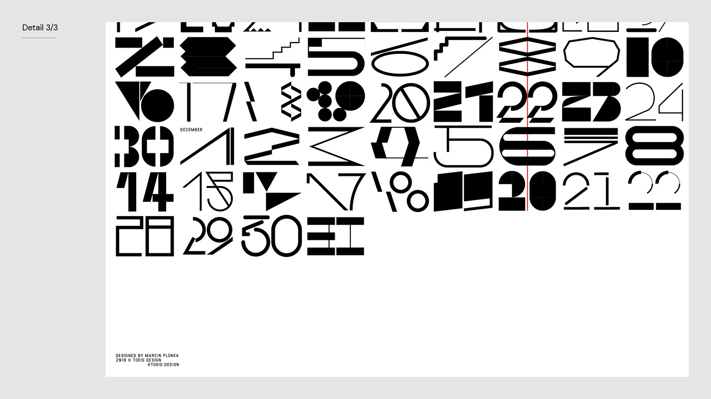 calendar 2020 calendar typography   type custom typeface font type design