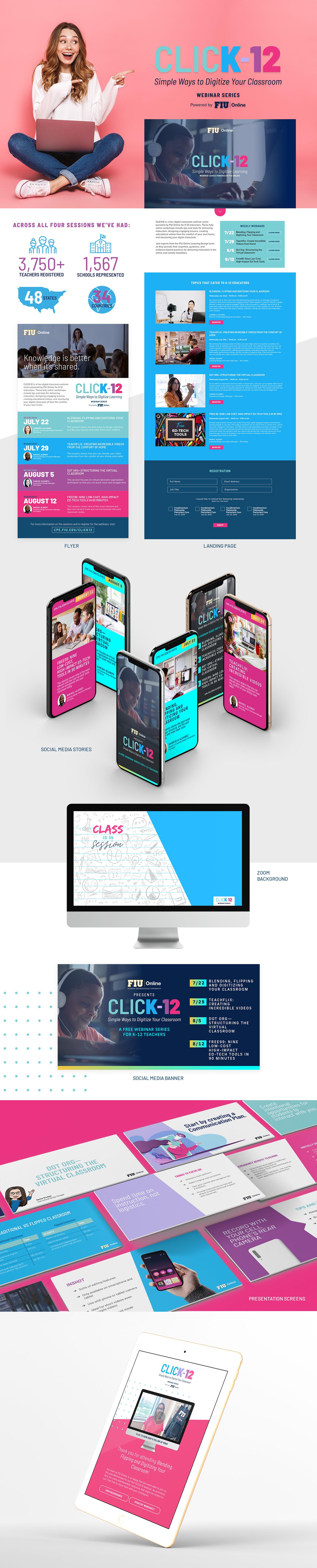 Education graphic design  infographics k-12 presentation Social Media Graphics teachers webinar Website zoom