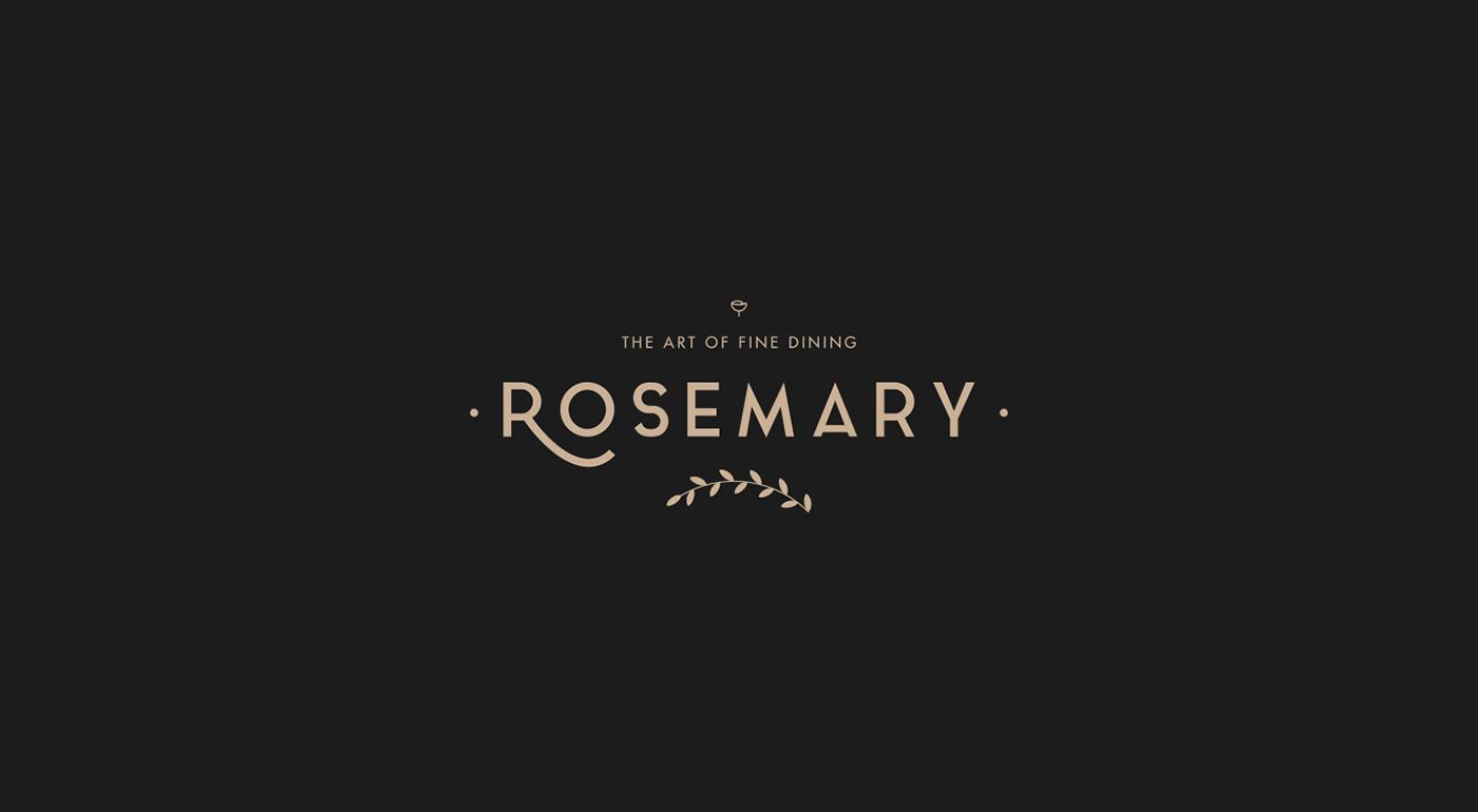 Rosemary Restaurant Brand Identity On Behance