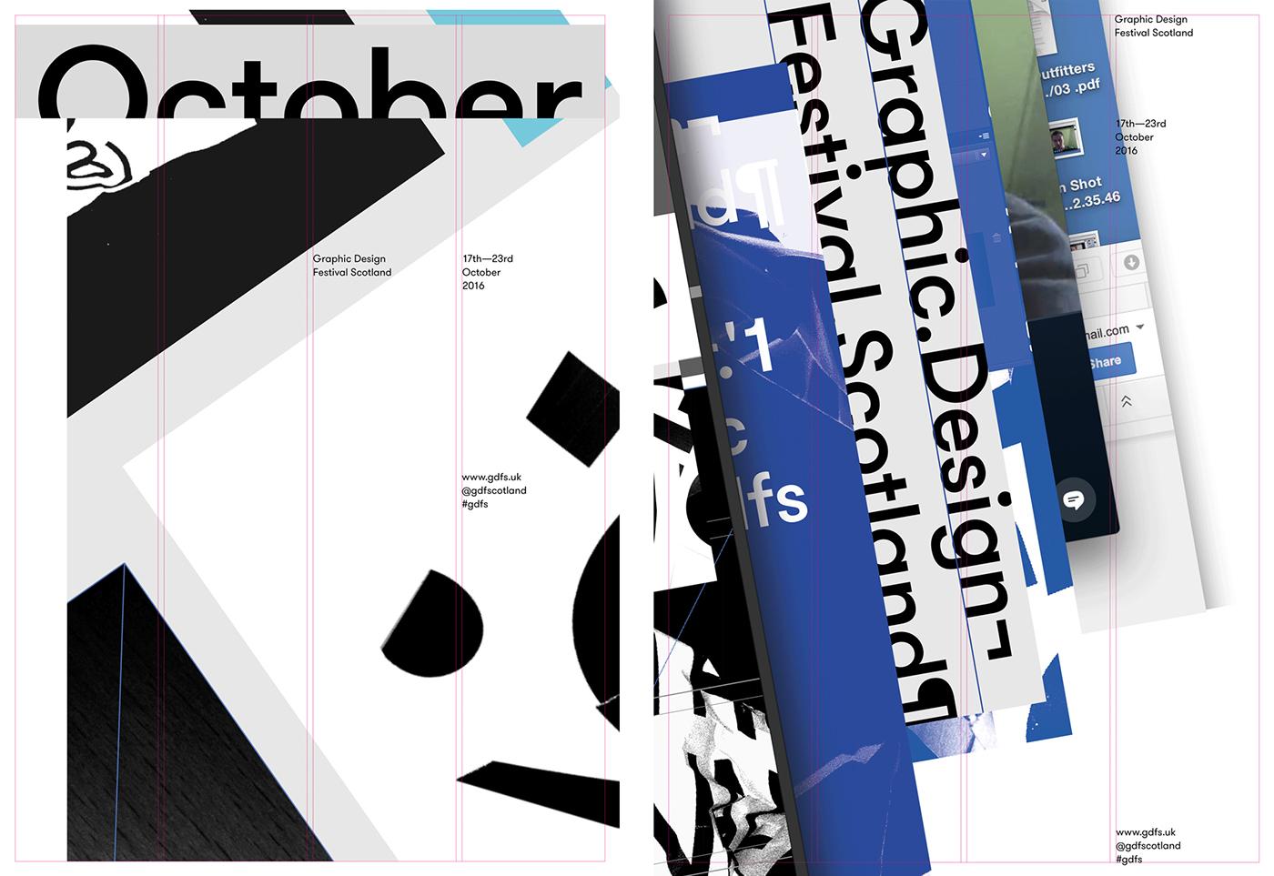 graphic design festival scotland freytaganderson Exhibition  identity Collaboration process Warriors Studio