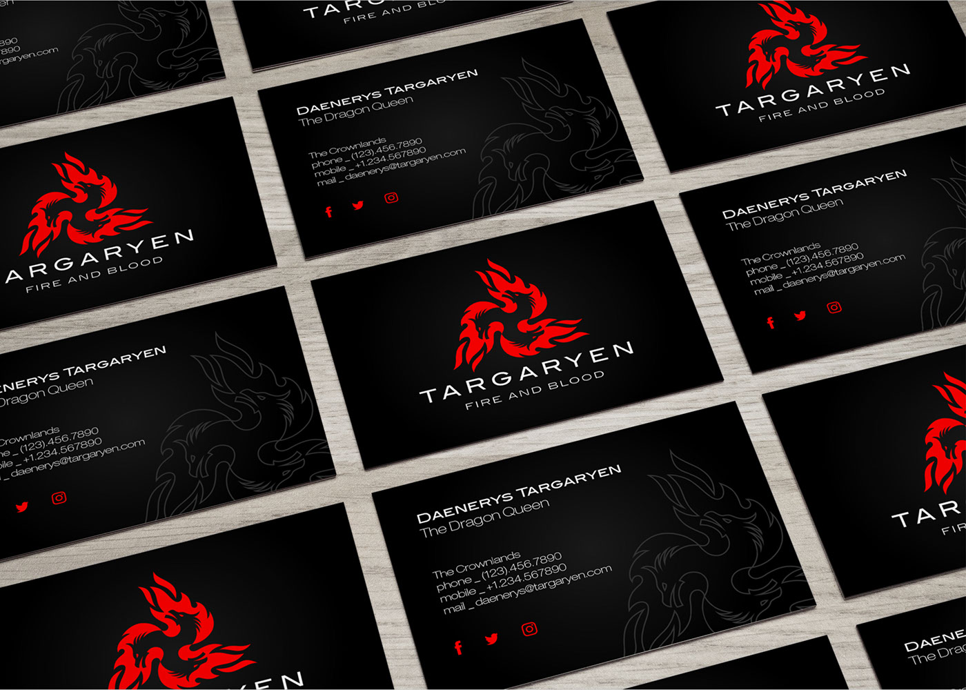 Game of Thrones - Modern Logos & Business Card on Behance