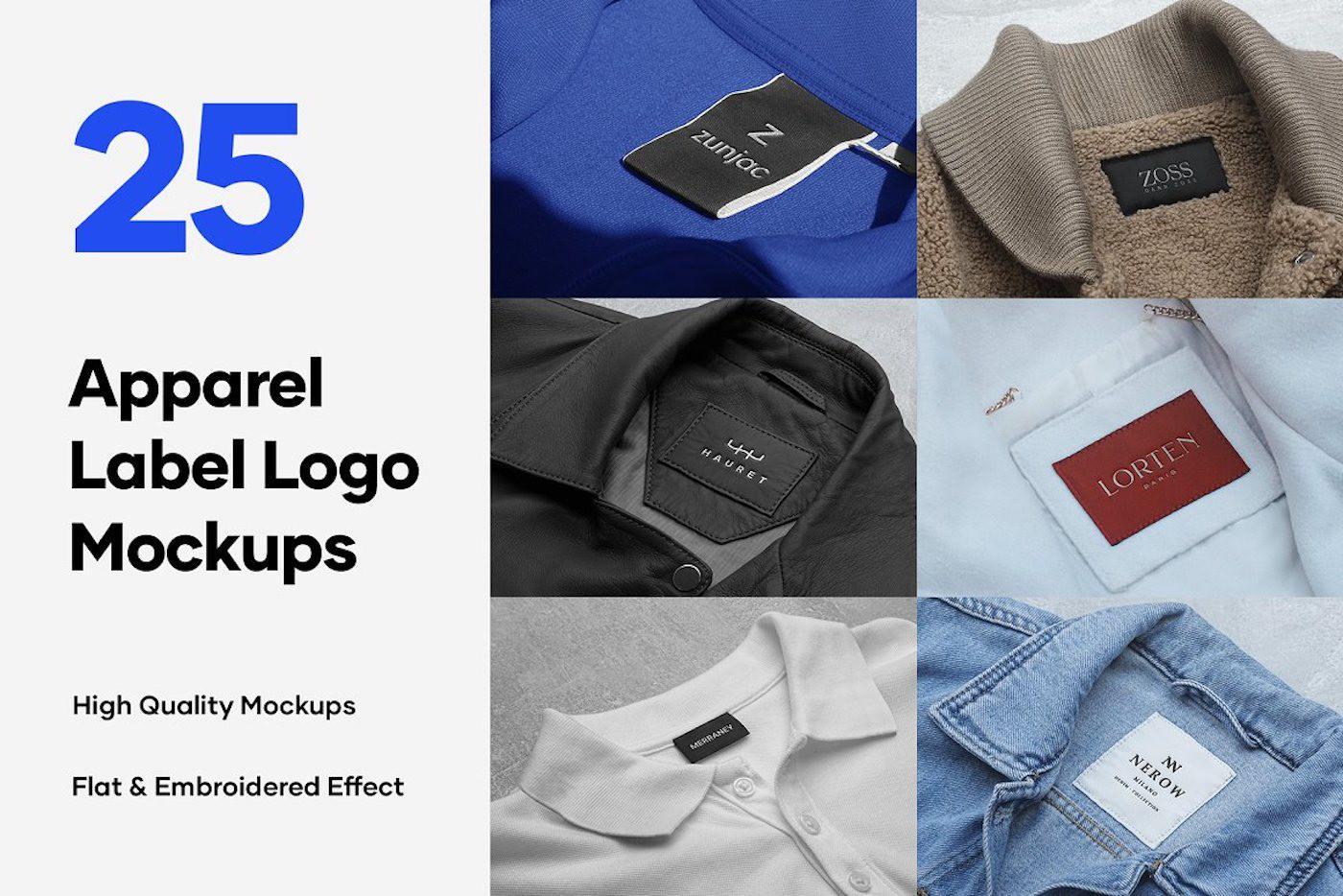 apparel branding  free free mockup  freebie Label logo Mockup mockups tag