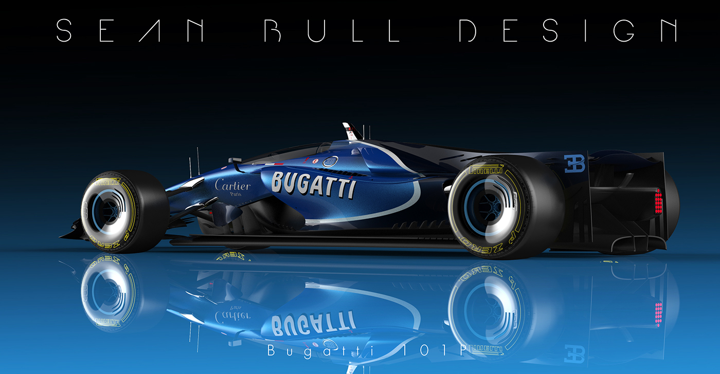 bugatti 101p f1 2020 concept final livery on behance. Black Bedroom Furniture Sets. Home Design Ideas