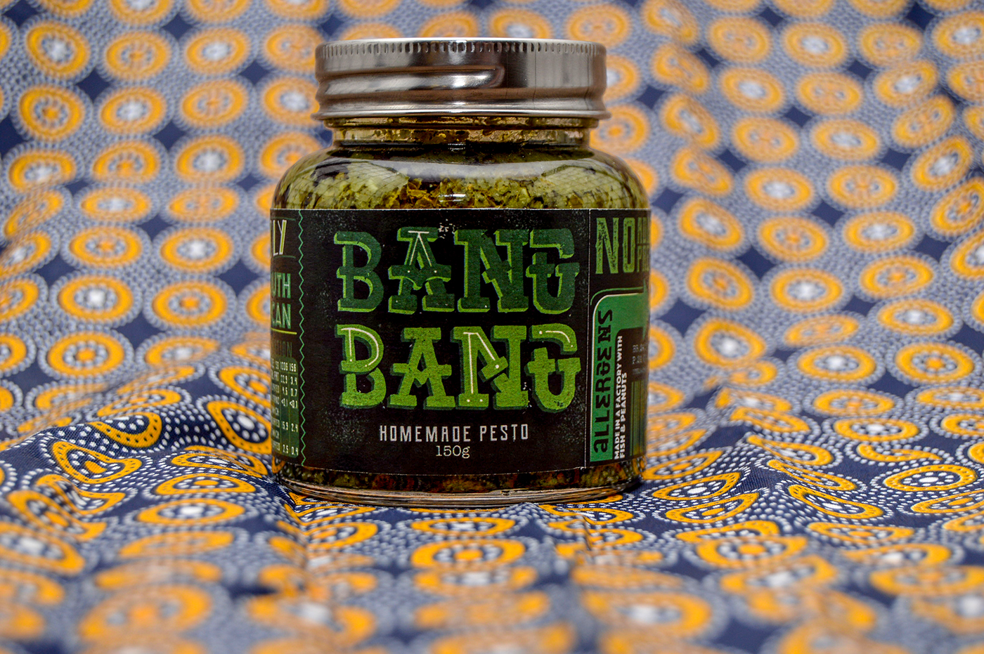 Packaging,illustrated typography,graphic design ,ILLUSTRATION ,South African Design,pesto,jars,product design ,Layout Design