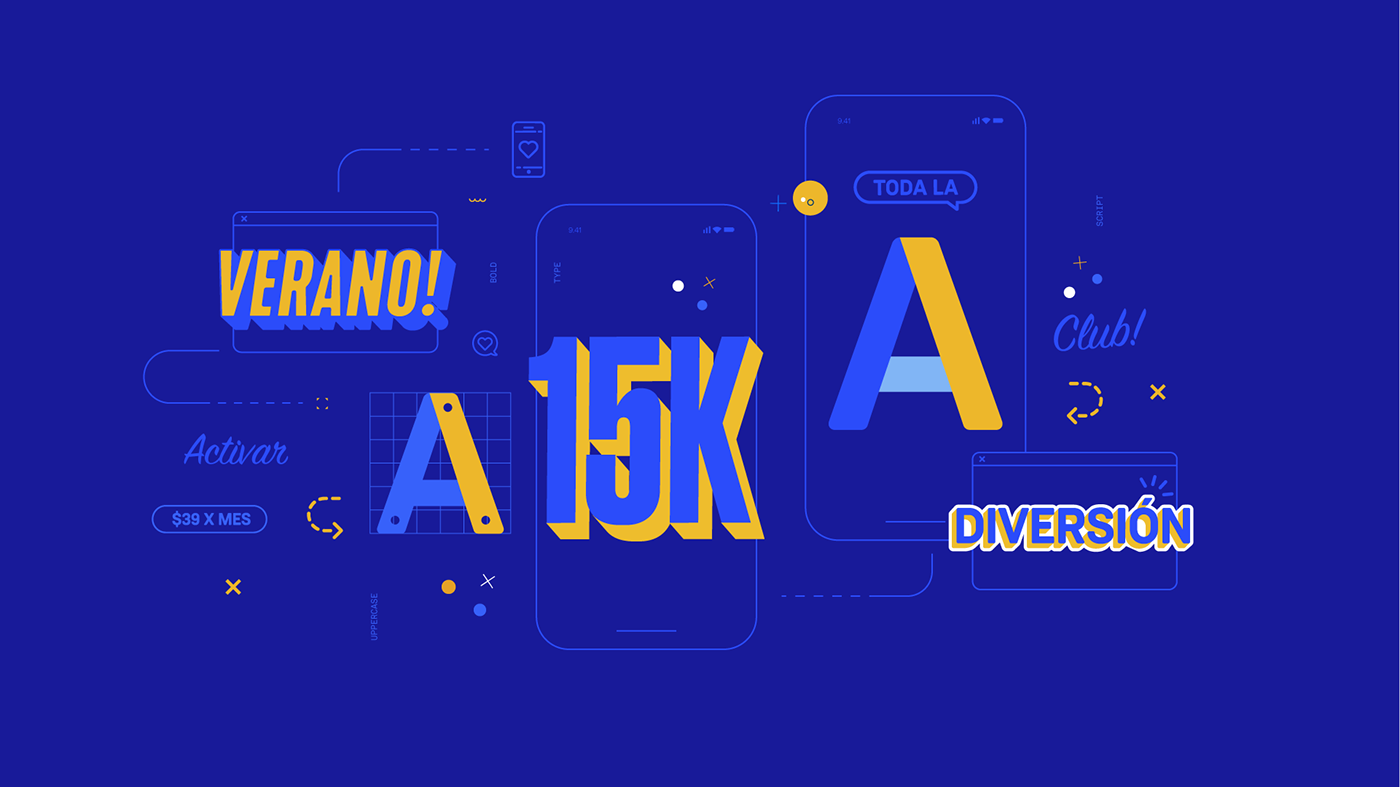 artwork digital motion blue type typography   animation  identity teaser content