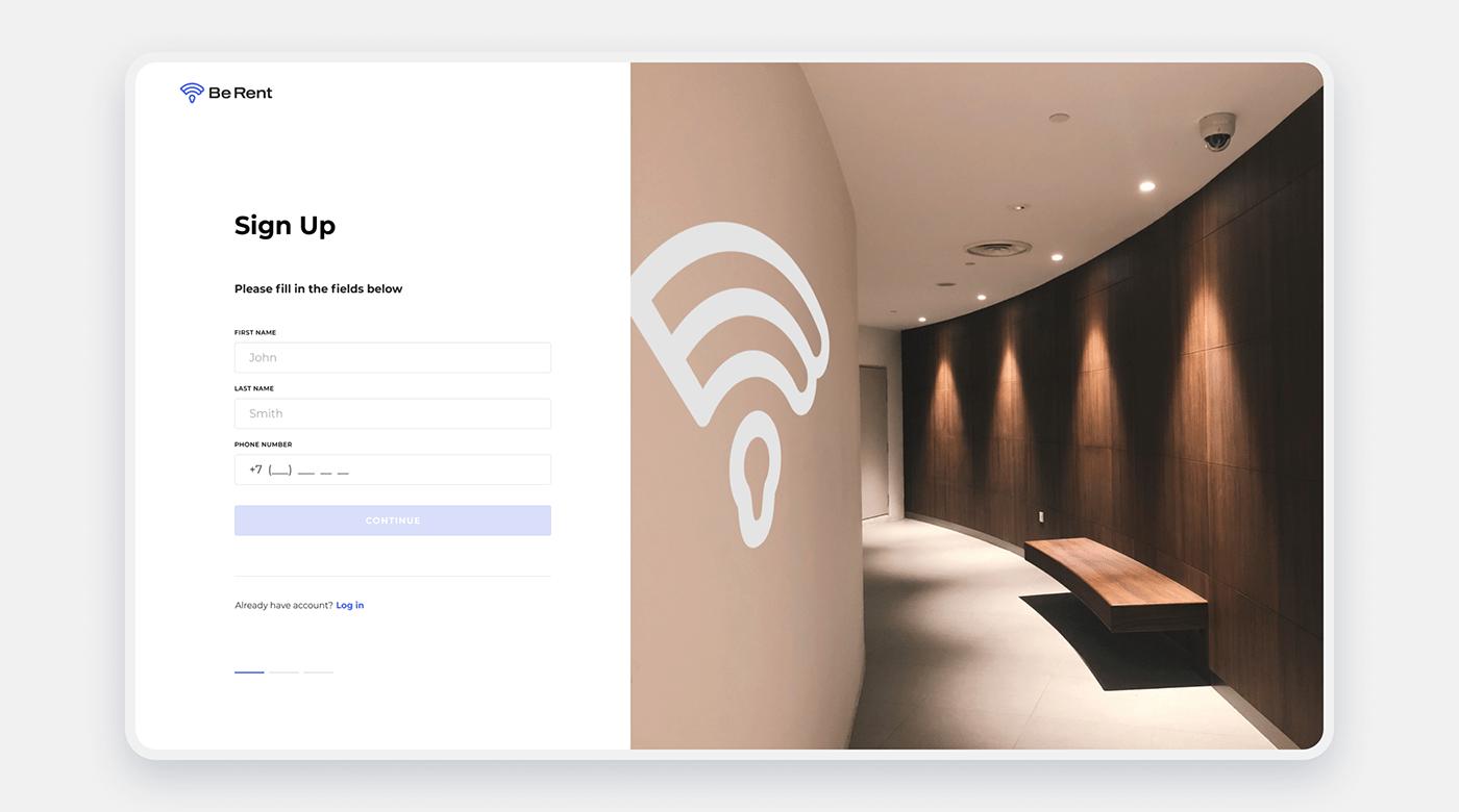 Booking hotel identity logo animation Mobile app UI ux