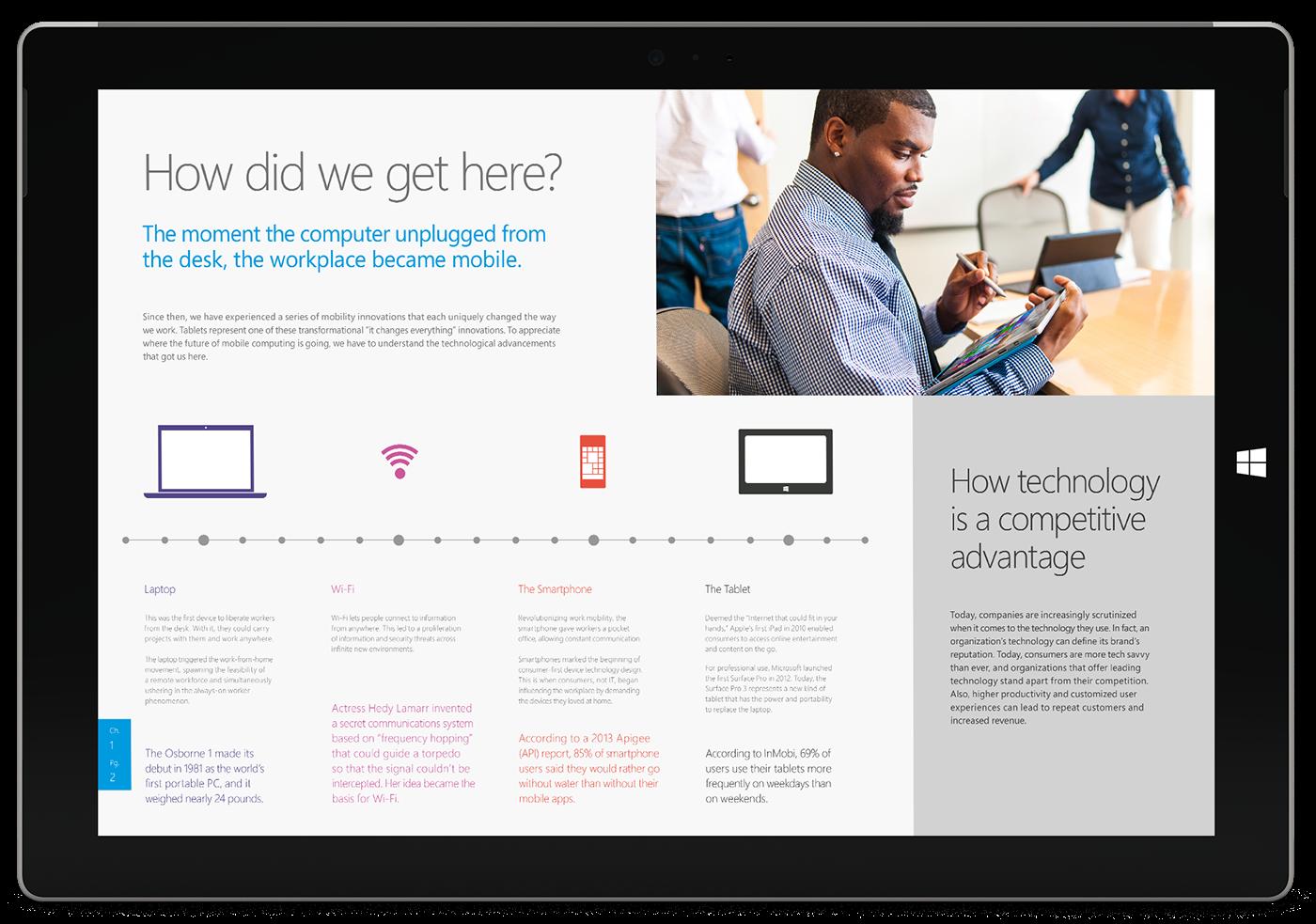 Microsoft Surface Pro 3 ebook on Behance
