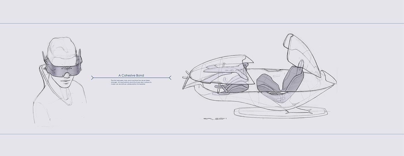 McLaren supercar racecar exterior Interior car automotive   sketches Renders model