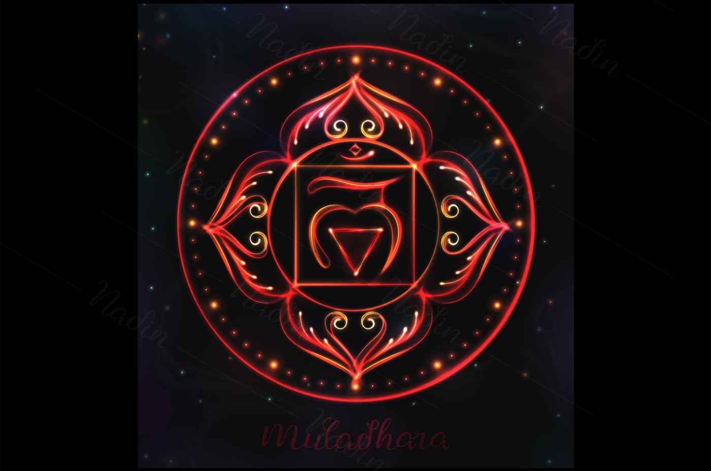 7 Shining Chakra Symbols On Behance