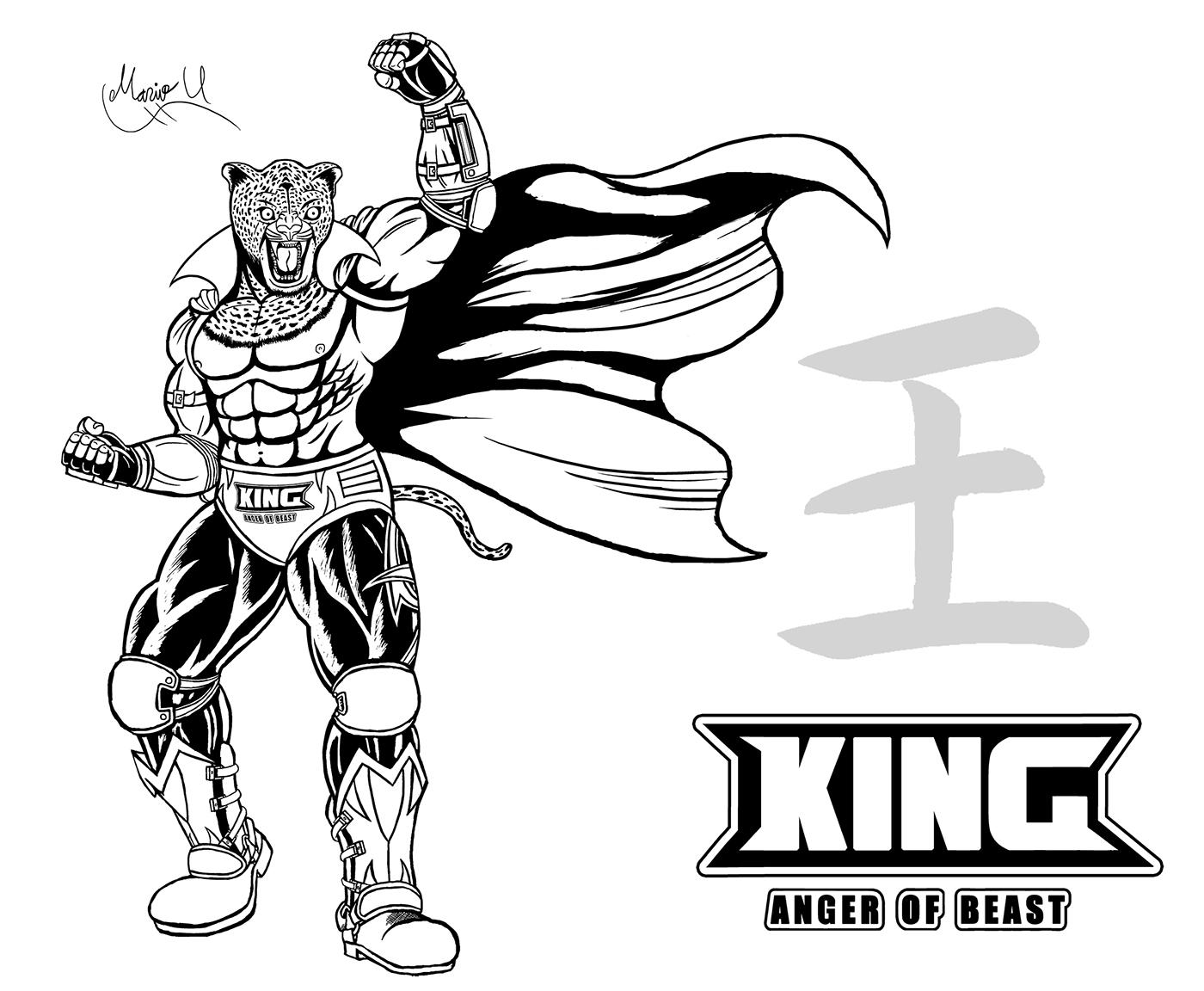 Tekken King Fightstick Artwork On Behance