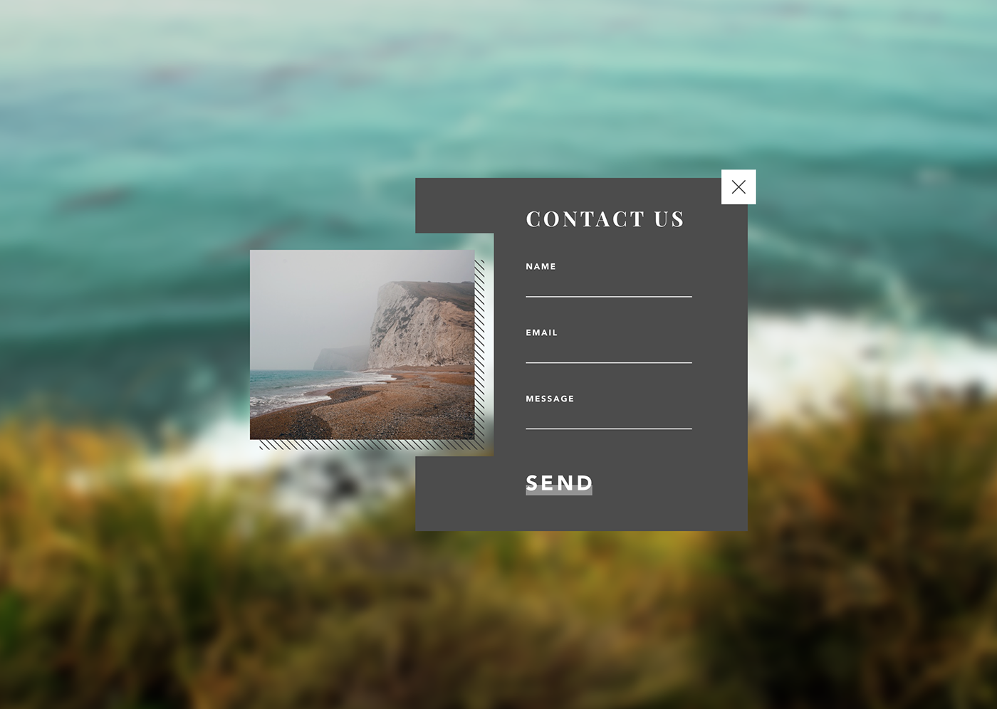 contact form UI ux Interface Form Contact page design Web daily ui challenge