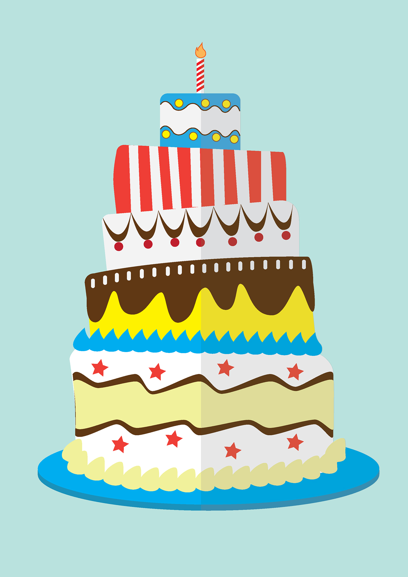 高質感的19個生日蛋糕圖案欣賞