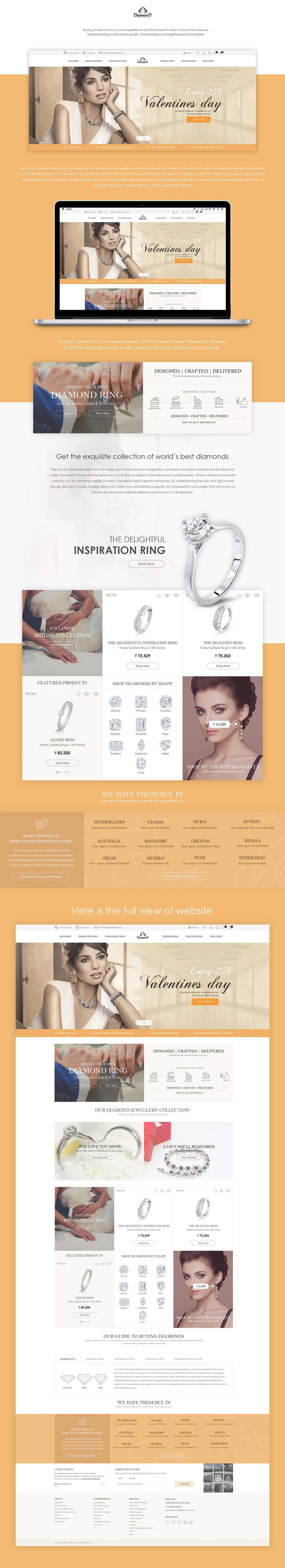 Jewellery Website Design Responsive Design ui design UX design graphic design  Responsive