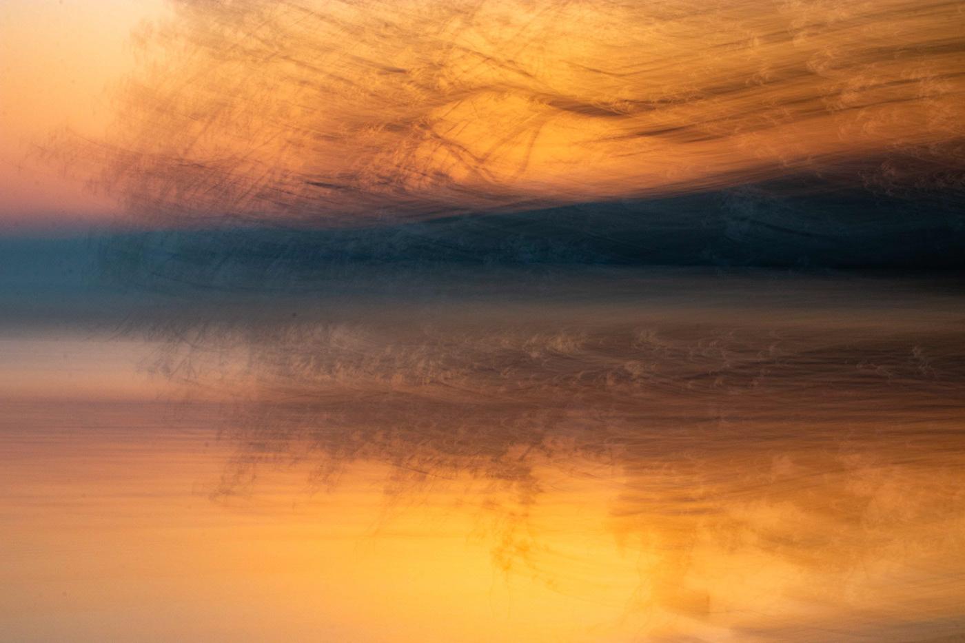 ICM, sunset at the Lake Léman, Switzerland