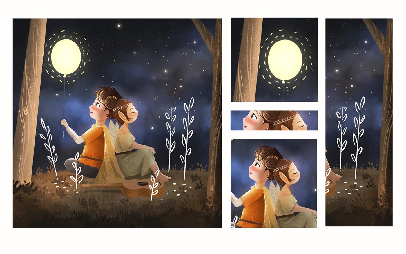 children's book cute elf heart Love Picture book Valentine's Valentine's Day Young