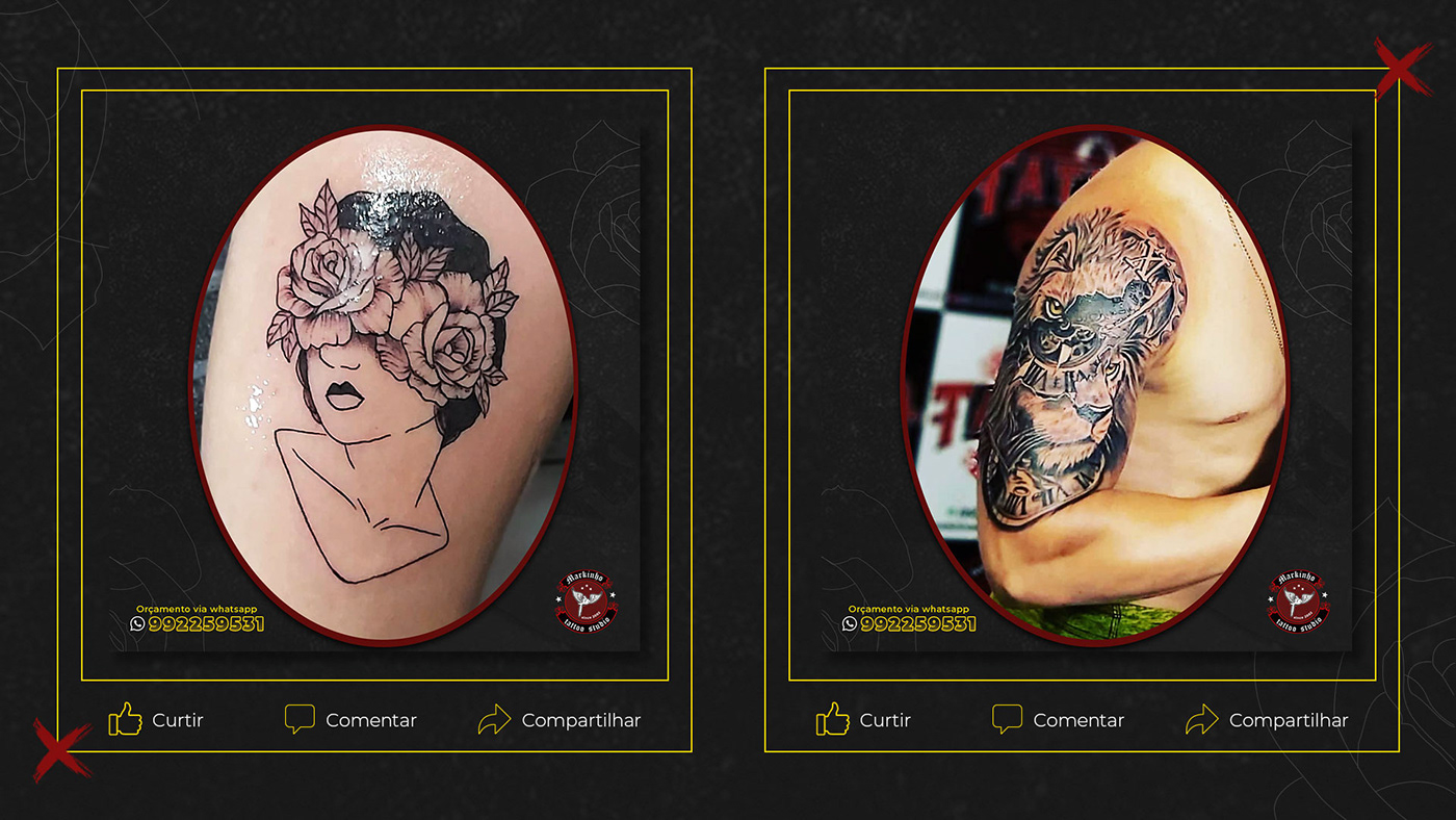 Image may contain: tattoo and cartoon