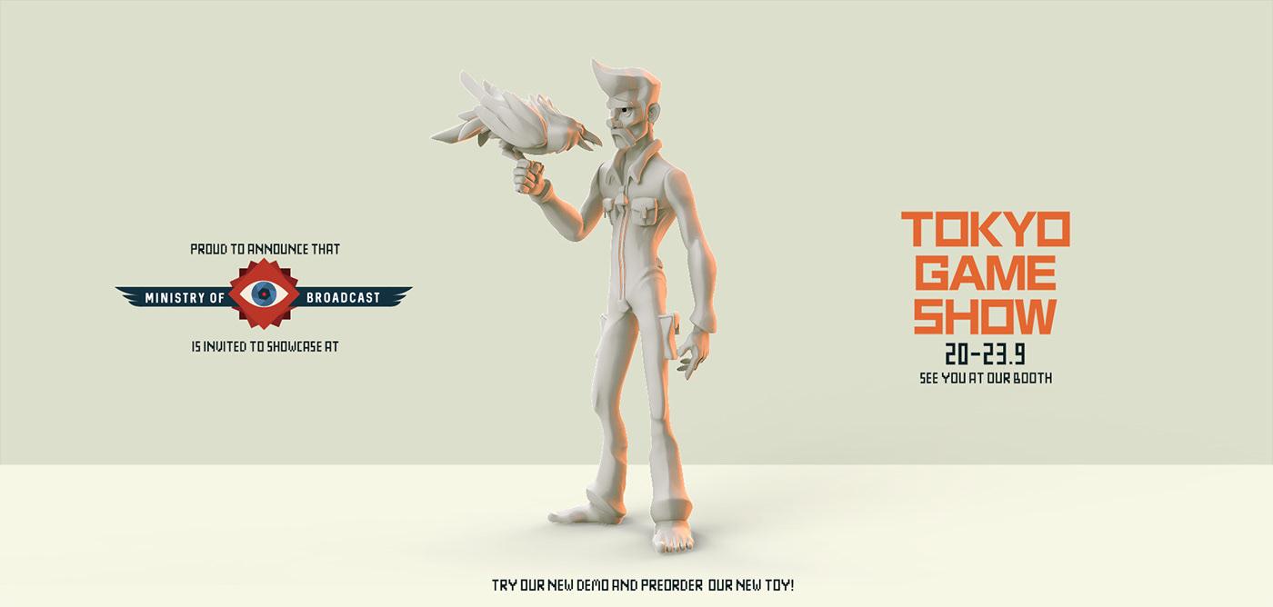 art toy bird arttoy Gaming indie game pixelart pixel sculpture Character design  modern 3D game studio
