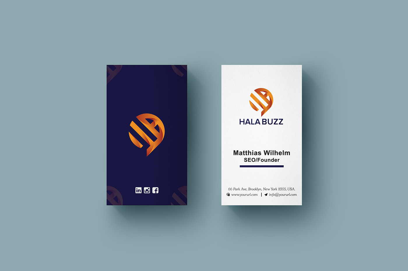Vertical Business Card Template Design on Behance