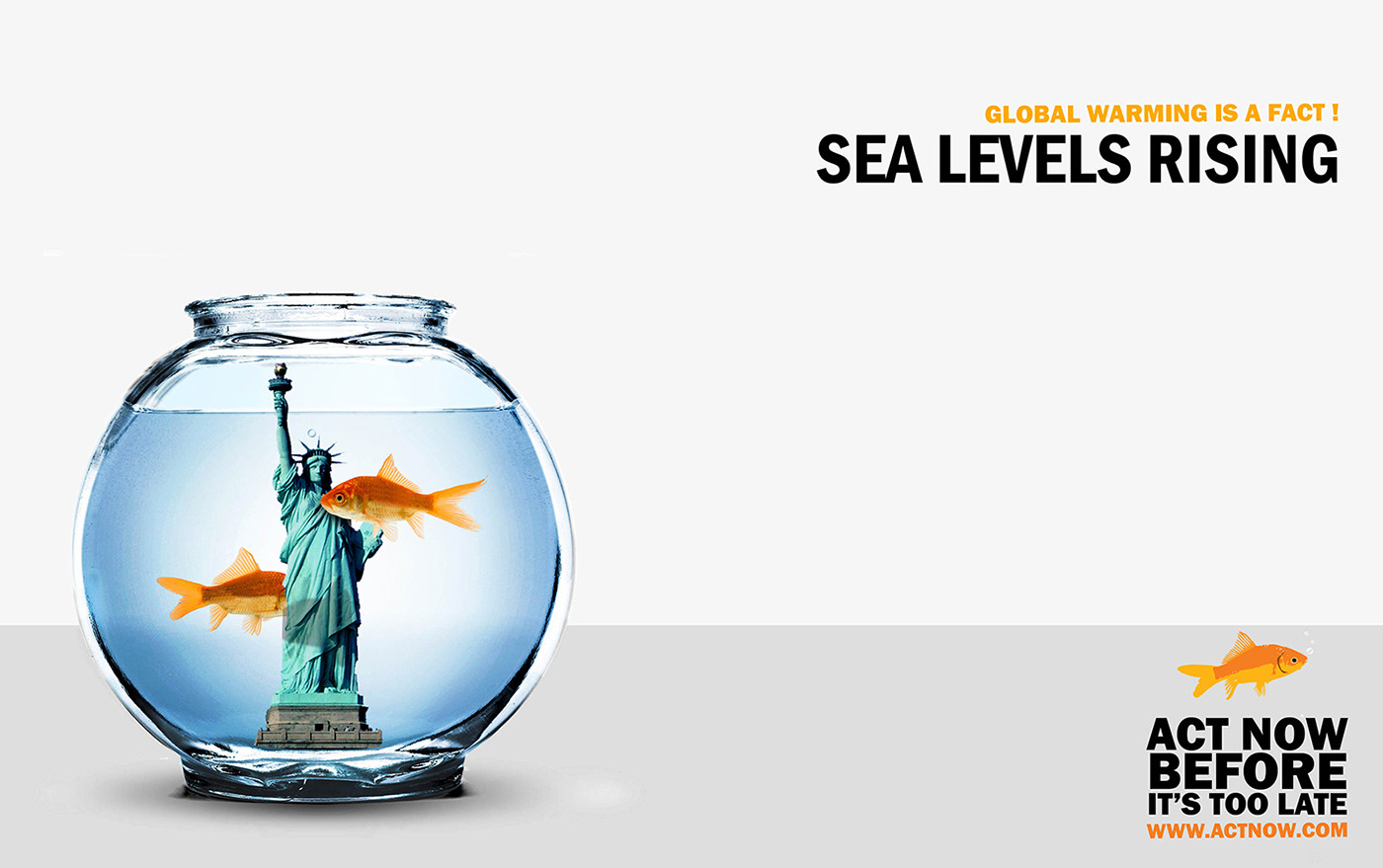 global warming graphic design  outdoor advertising social responsibility