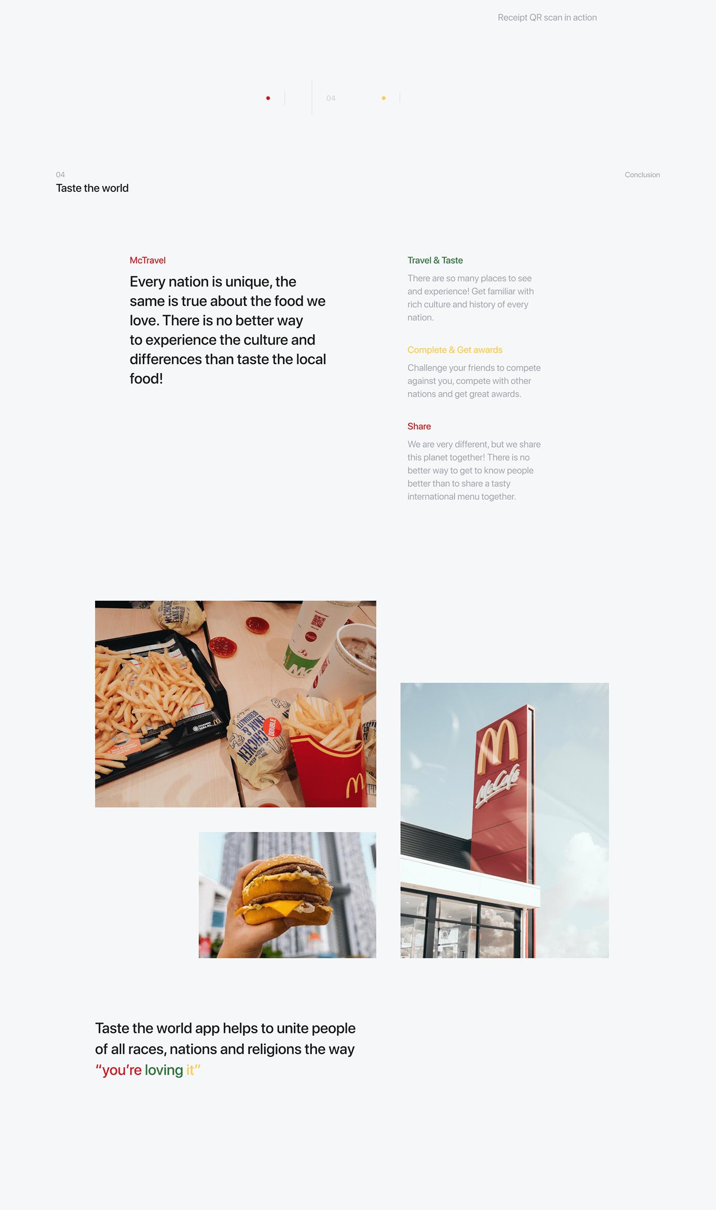 McDonalds mobile app ux UI Food  Travel world graphicdesign design
