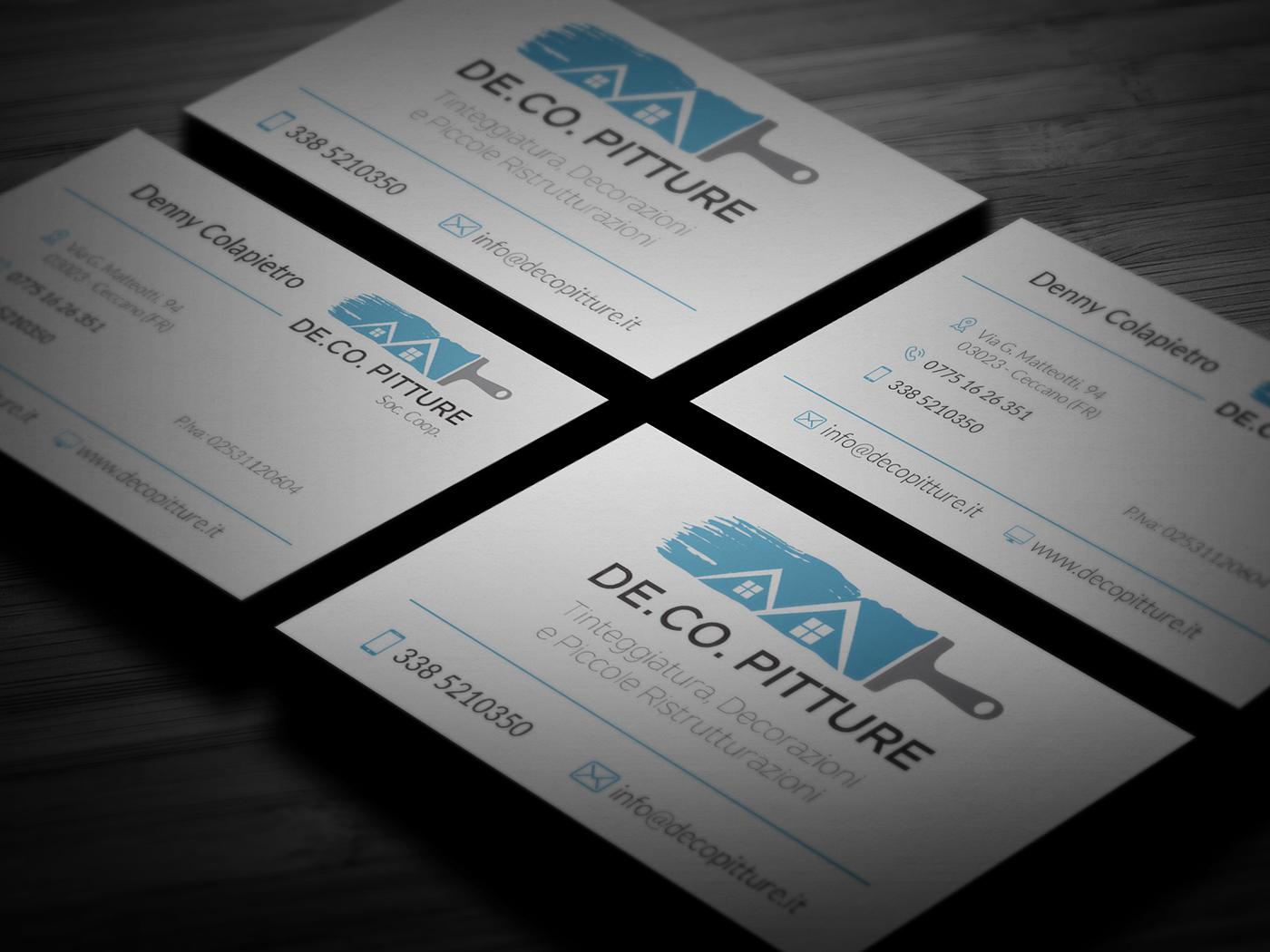 business card branding  logo