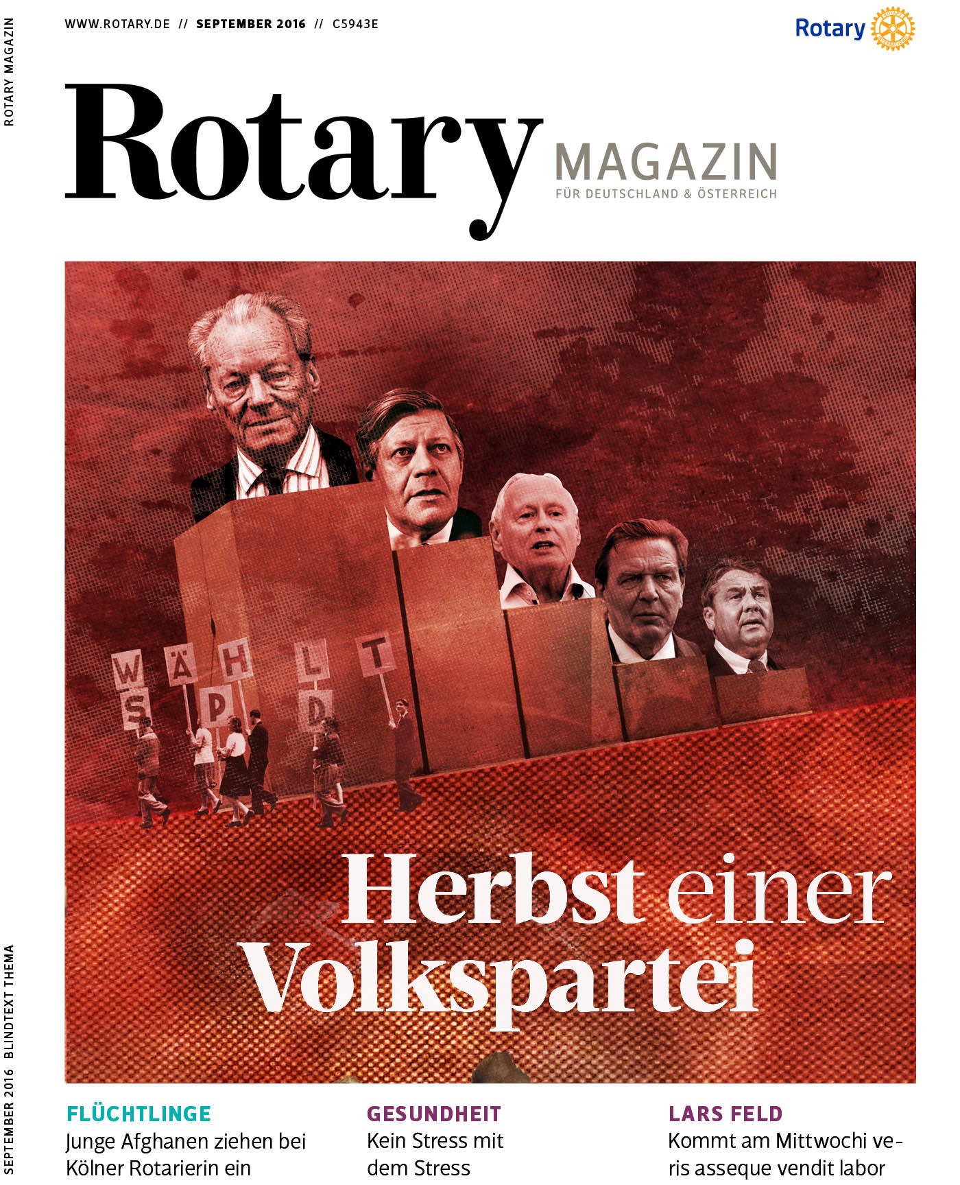 Magazie title Rotary magazine