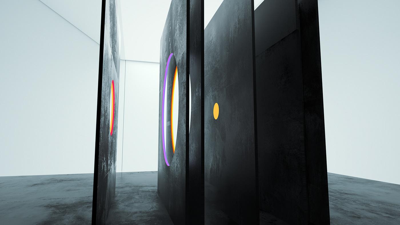 Digital Art  motion design motion animation  abstract sculptures